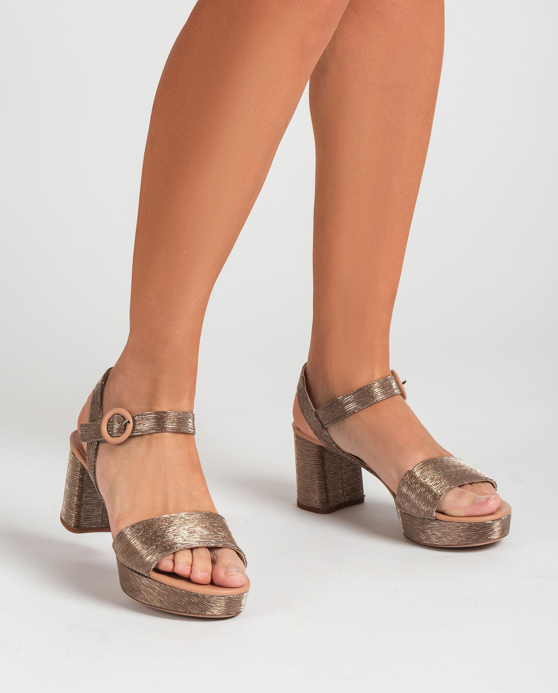 UNISA Shiny effect fabric sandals NENES_21_RAD_NA 2