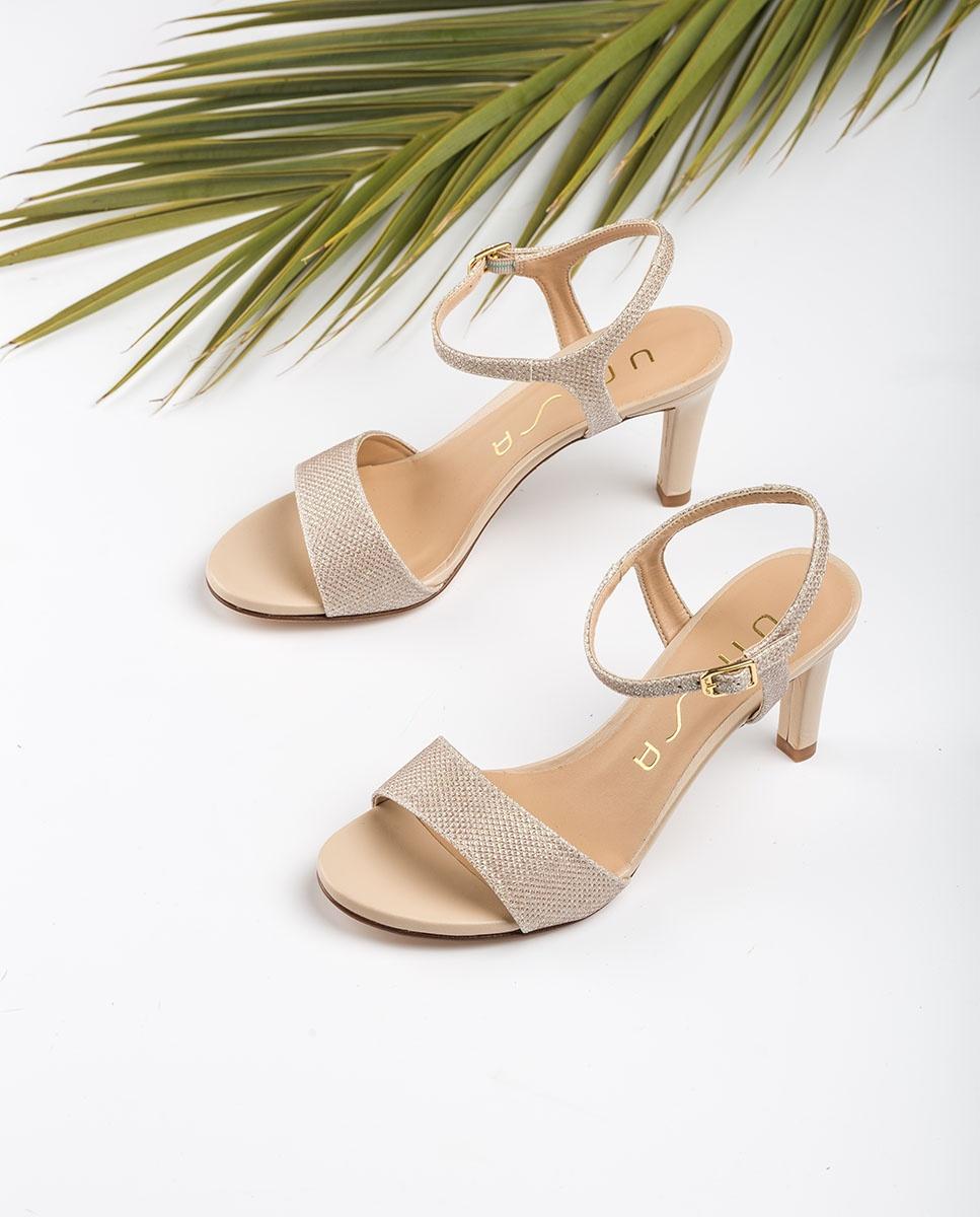 UNISA Shine heel sandals OBANO_EV_NA platino 2