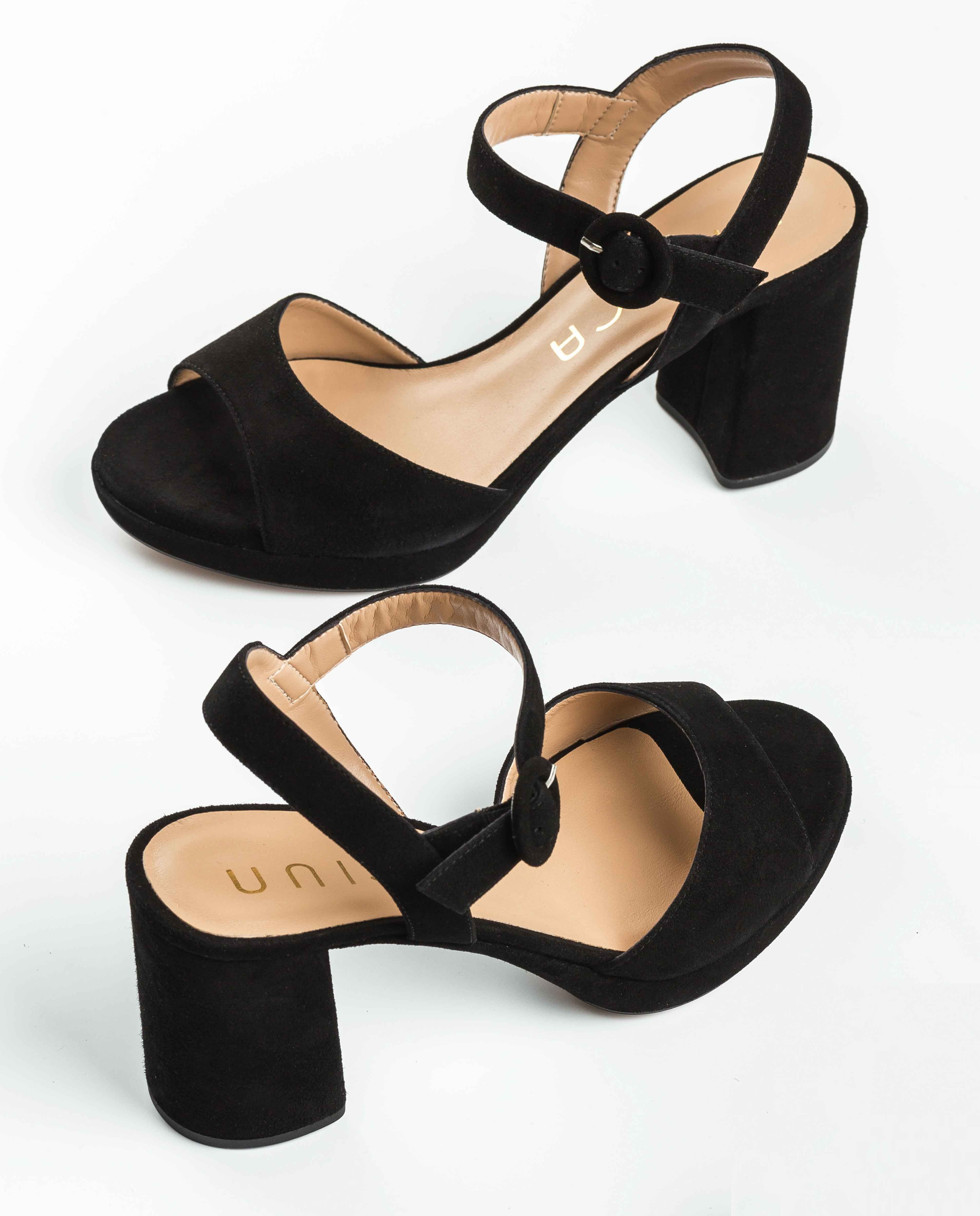 UNISA Black heel sandals OMERCI_KS black 2
