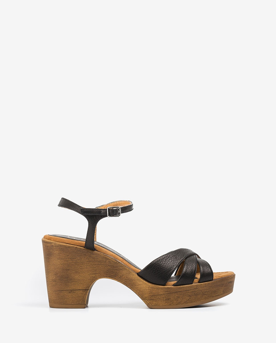 UNISA Leather block sandals ONETA_STY black 2