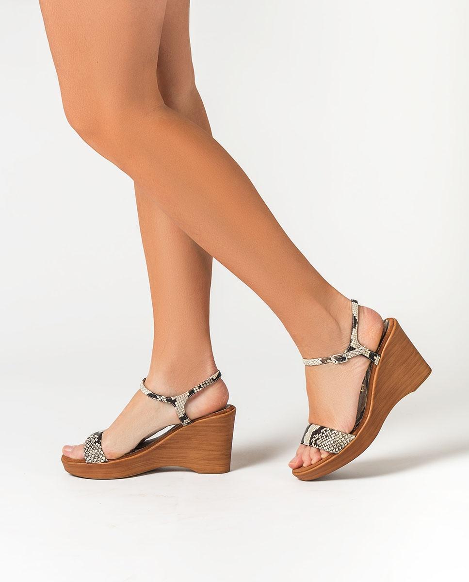 UNISA Snake sandals RITA_20_VIP nacar 2