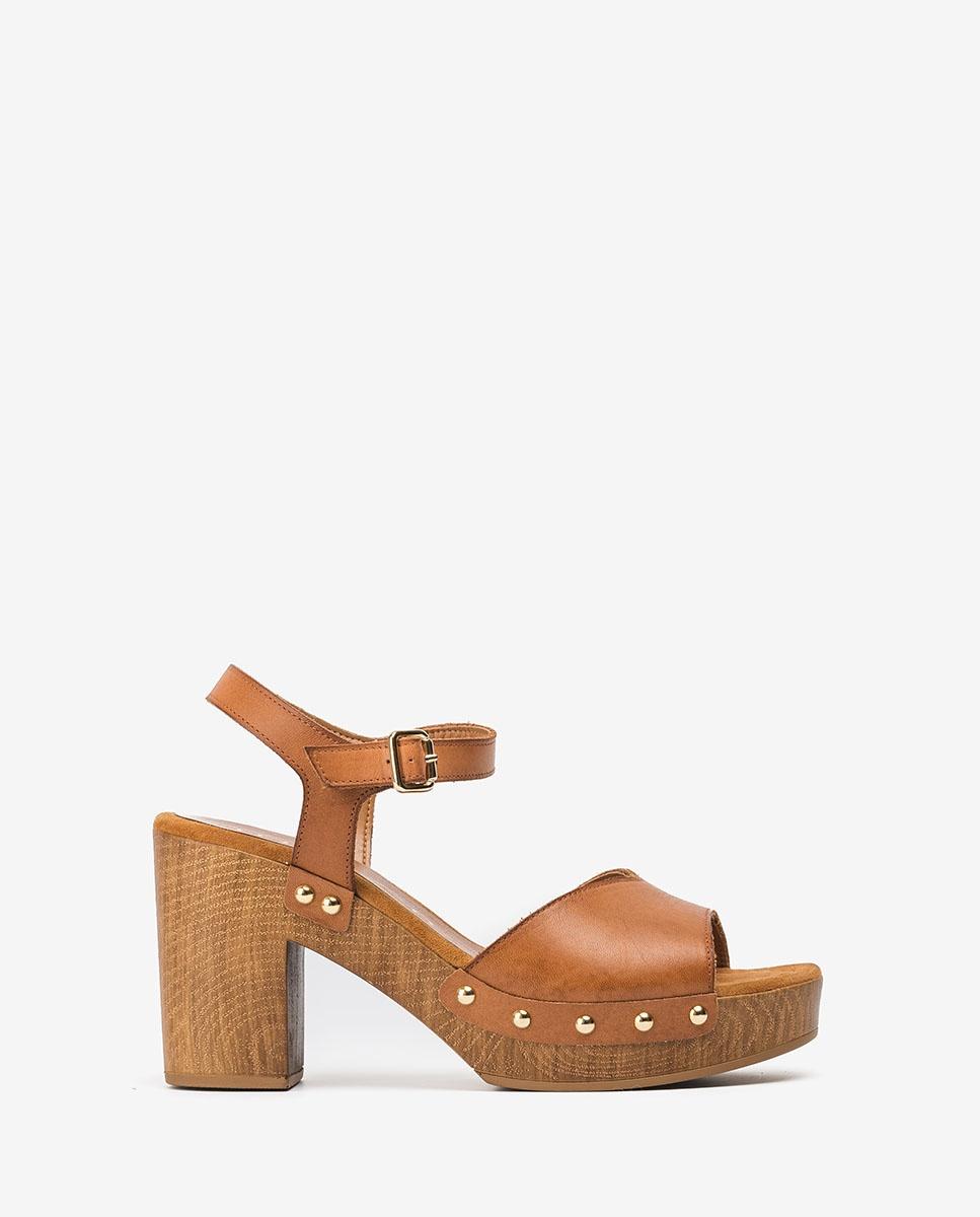UNISA Studs block sandals TACO_RAN bisquit 2