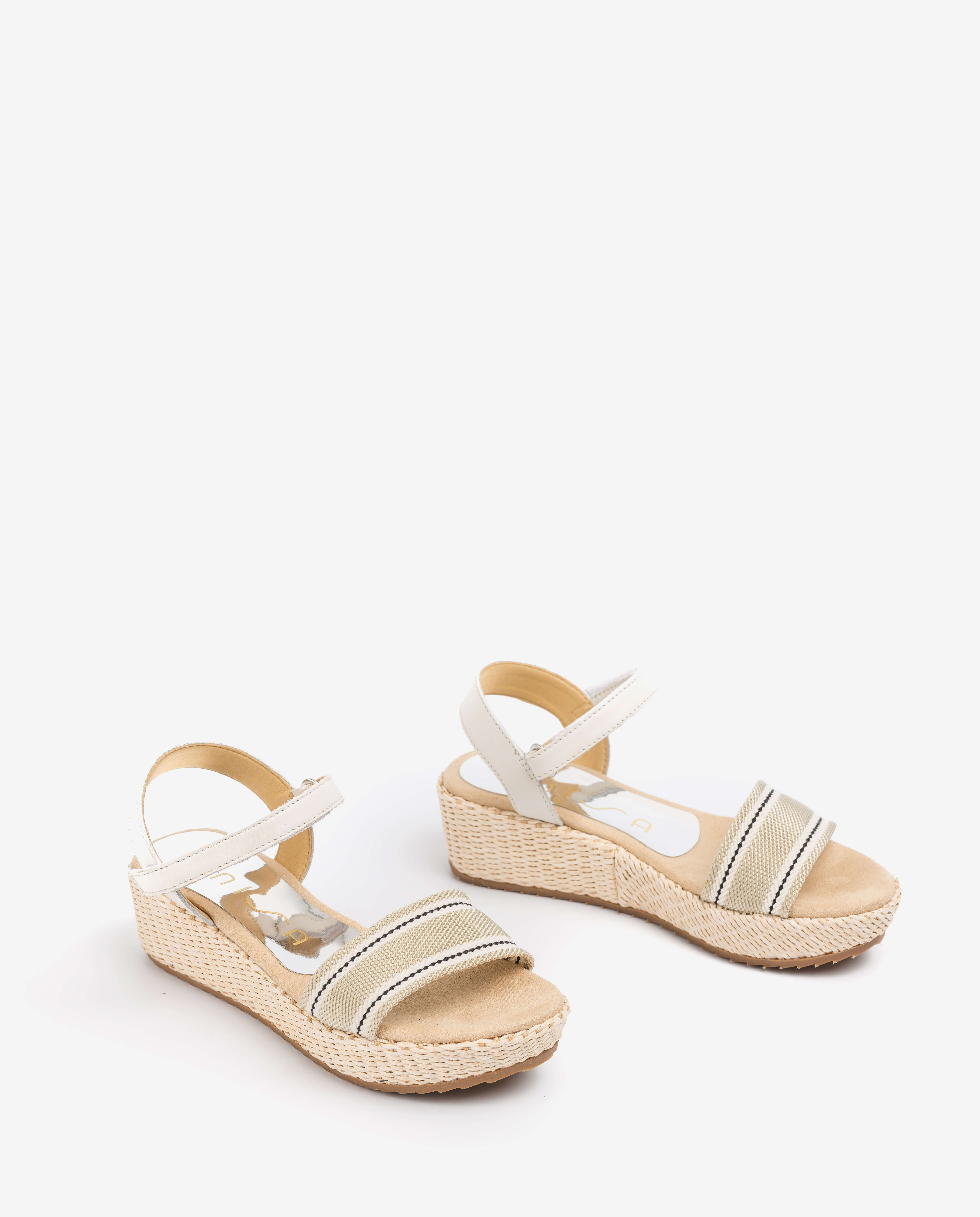 UNISA Little girl braided ribbon sandlas TALOS_R_NF ivory 2