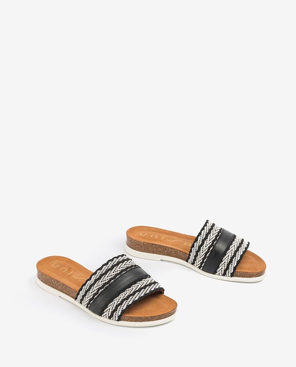 UNISA Ribbon contrast sandals CRUSAT_NF black 2