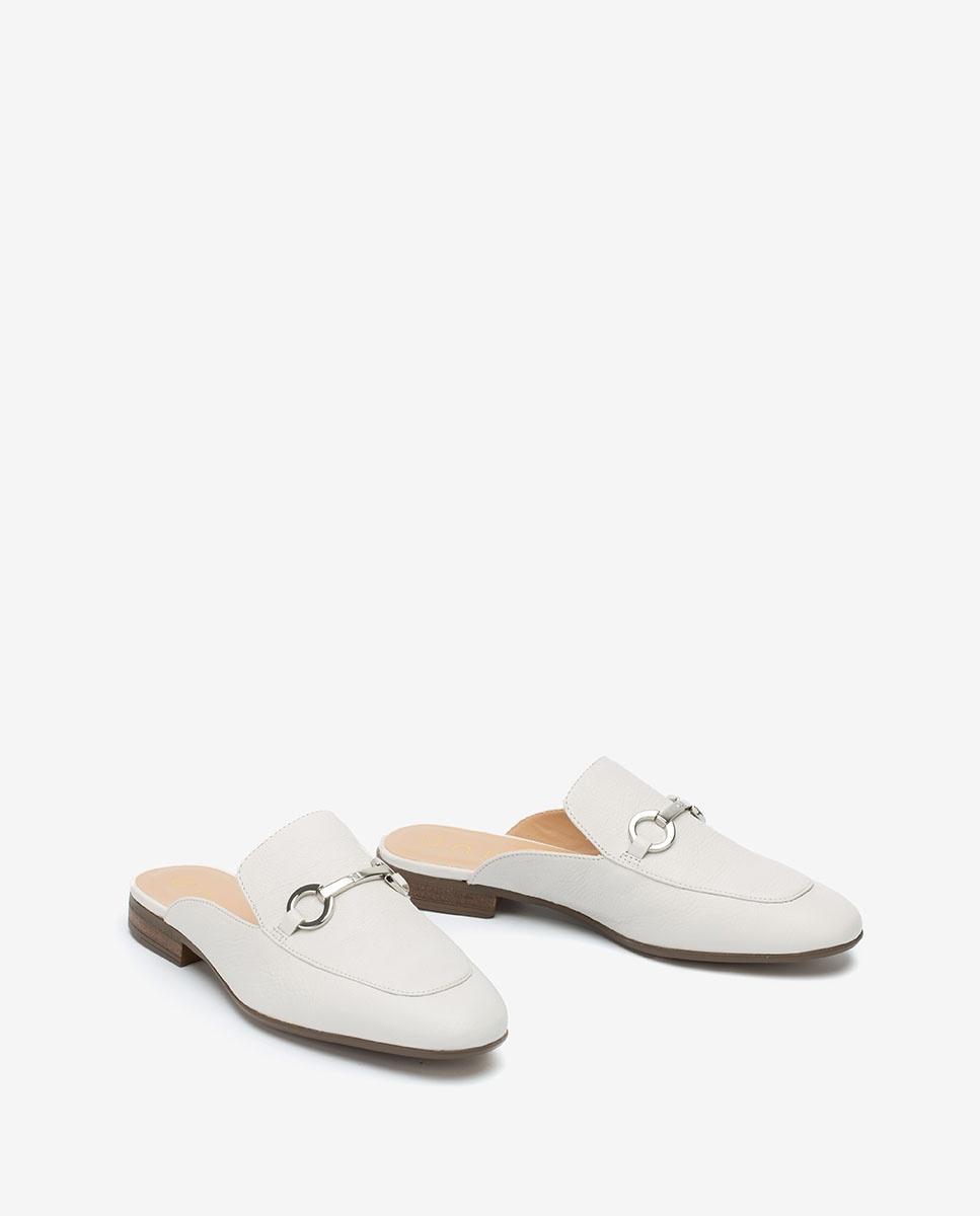 UNISA Leather slingback loafer DECENA_20_STY_AA ivory 2