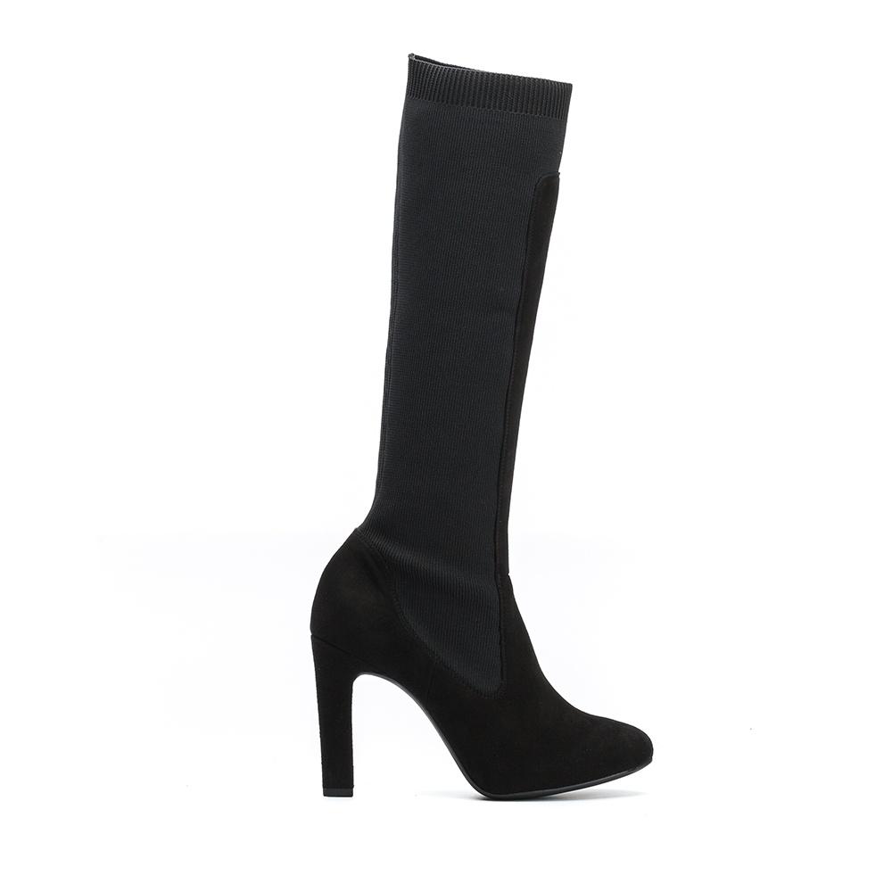 UNISA Bota tacón con calcetín  PEDREO_F19_KS black