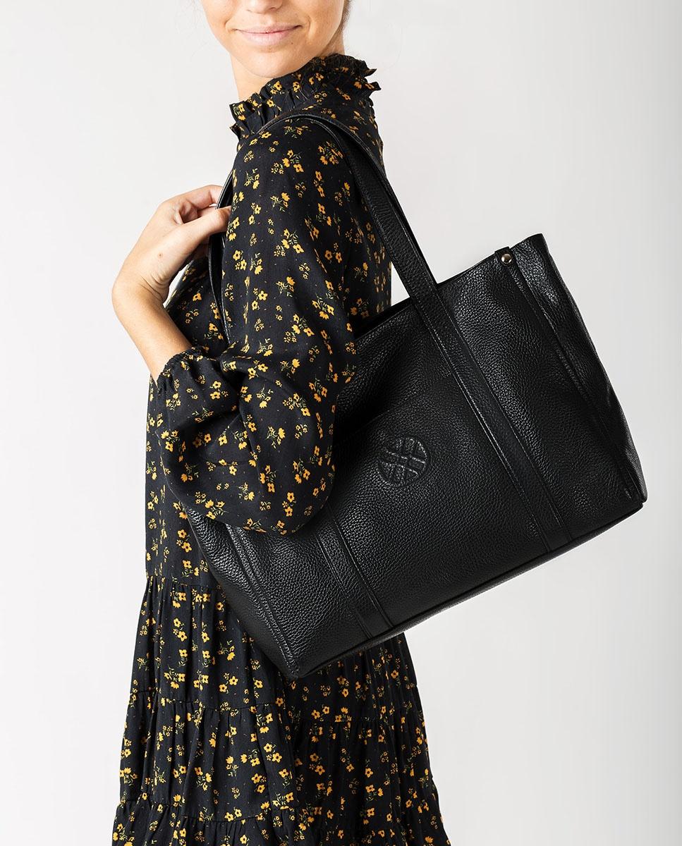 UNISA Bolso shopper de piel ZNOLI_MM black