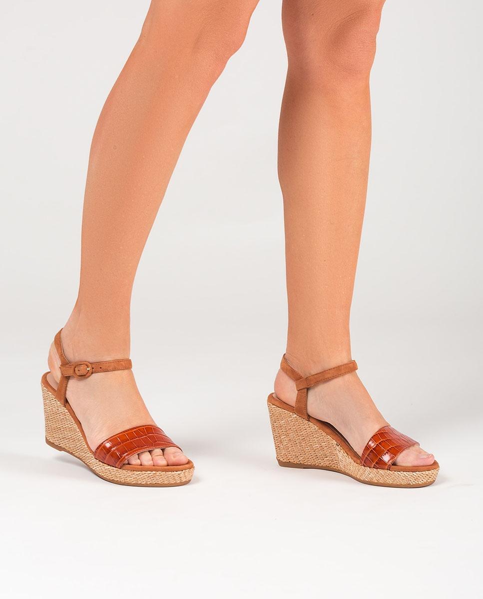 UNISA Croc contrast sandals LUPA_CRW_KS bisqu/cina 2