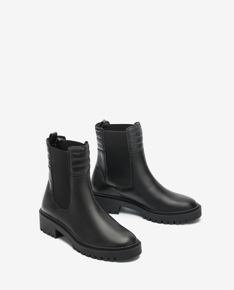 UNISA Black Chelsea biker ankle boots GREEK_NF black 2
