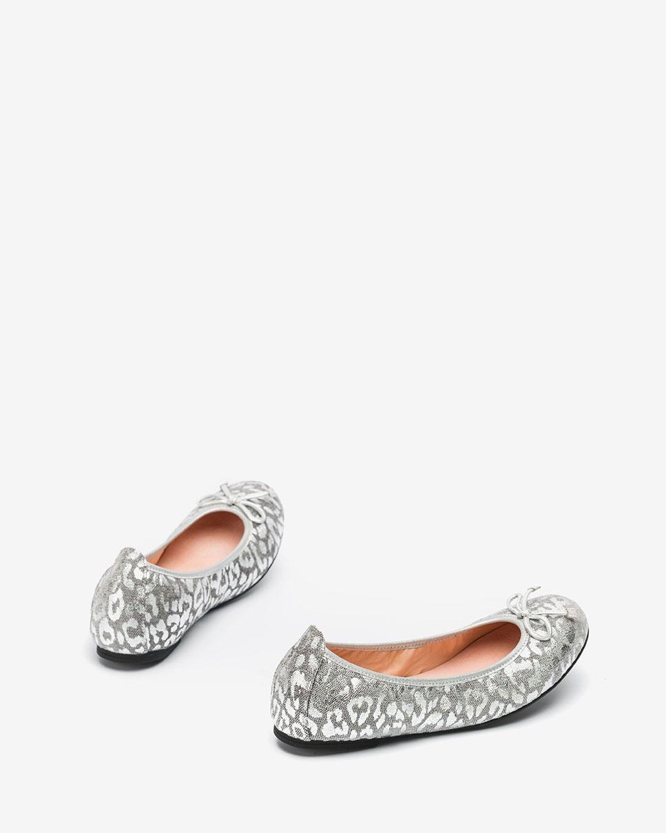 UNISA Bailarina leopardo plata ACOR_F20_LUX silver