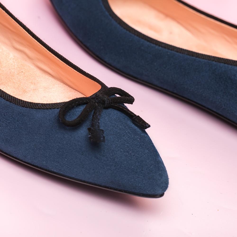 UNISA Bailarina azul punta fina ARENY_F19_KS dark jeans