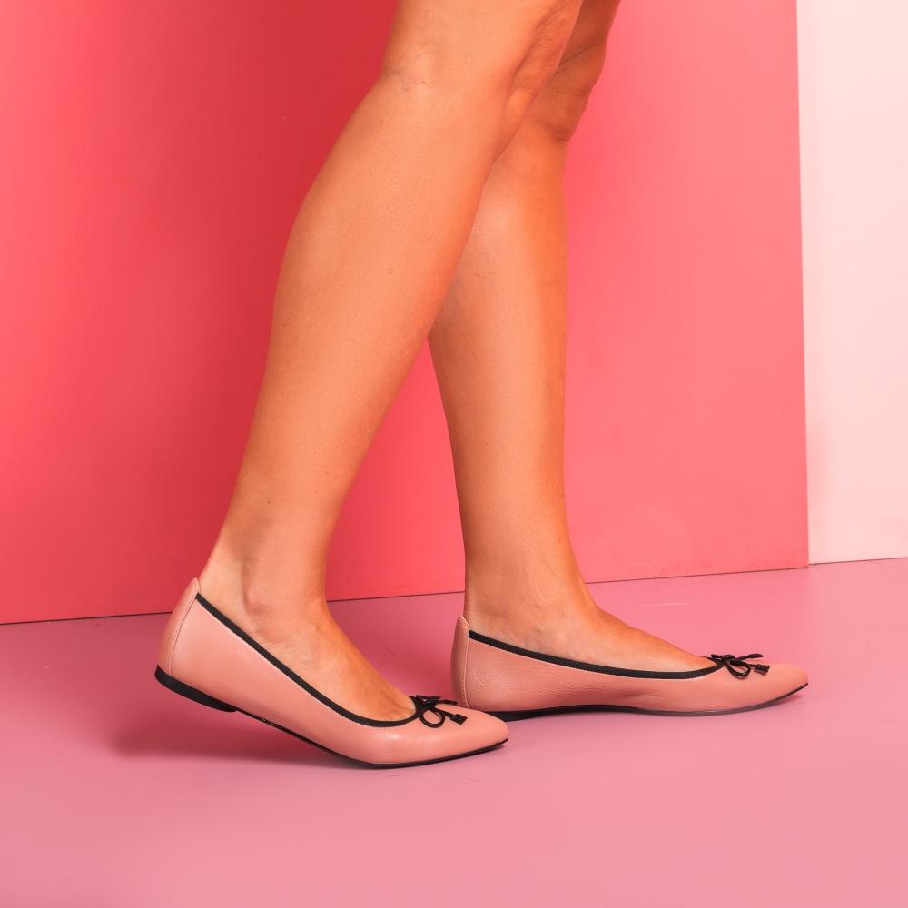 UNISA Bailarina de piel punta fina ARENY_F19_NA roxe