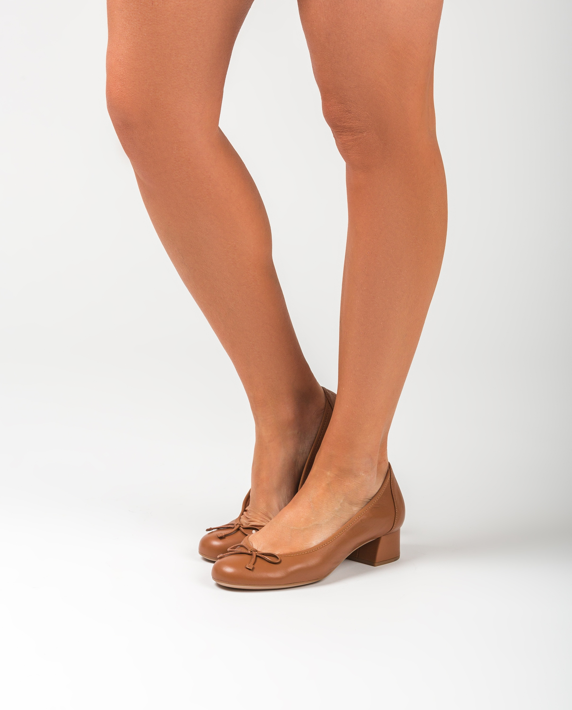 UNISA Bailarina piel tacón LACOR_20_NS bisquit
