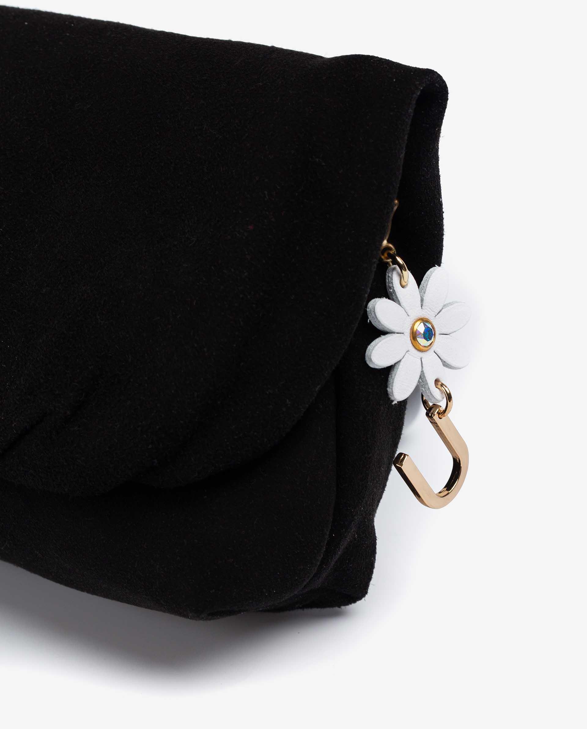 UNISA Bolso pequeño con detalle de flor y letra