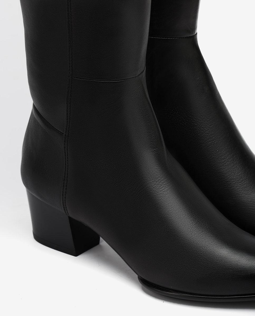 UNISA Bota elástica negra punta fina JOEL_F20_VU_STN black