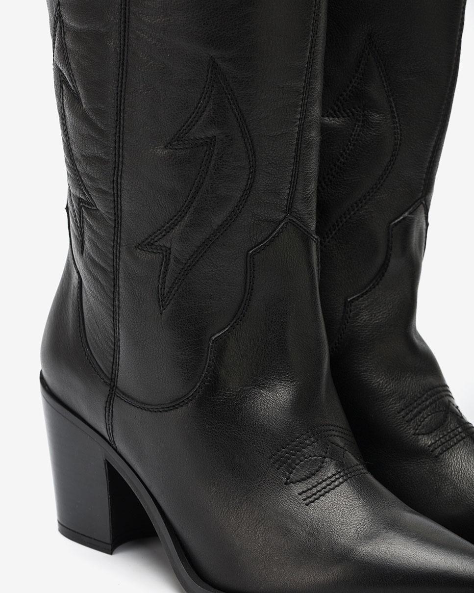 UNISA Bota cowboy negra bordada MIRABEL_CRE black