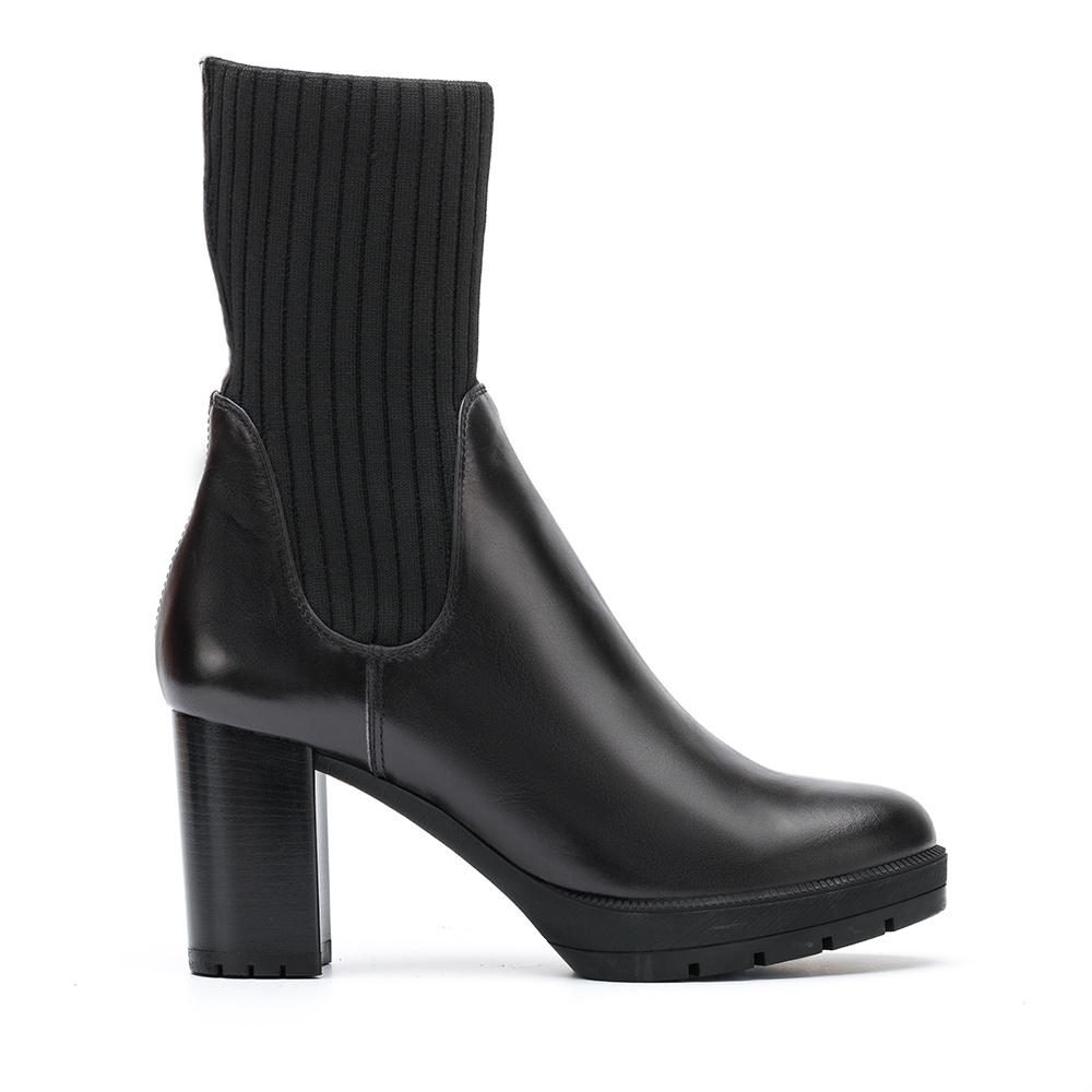 UNISA Botín con calcetín de canalé KOSOVO_NE black