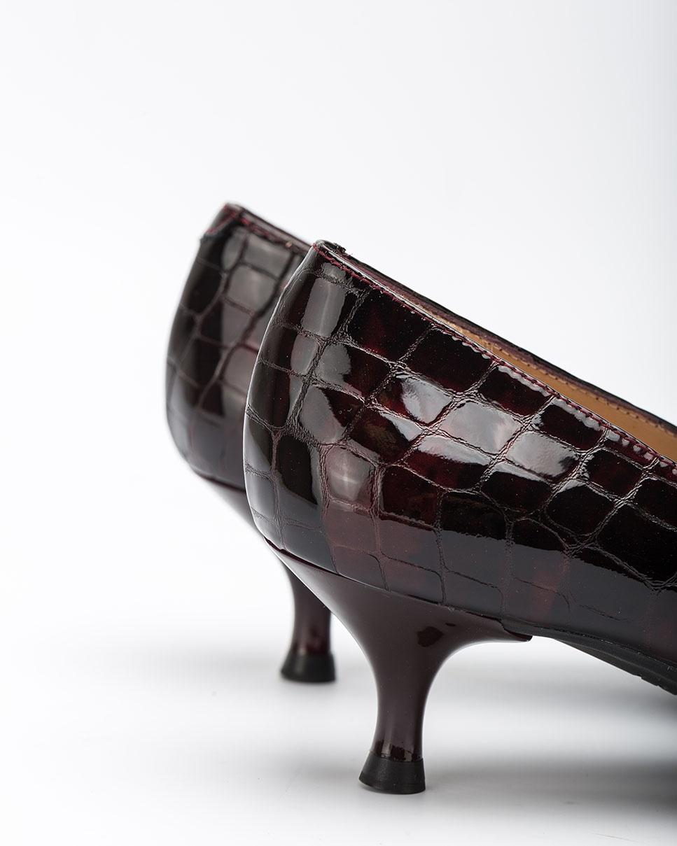 UNISA Salón burdeos charol croco JIRON_F20_CSH grape