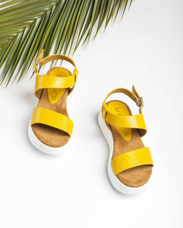 UNISA Sandalia sport amarilla BIMAX_GCR limone