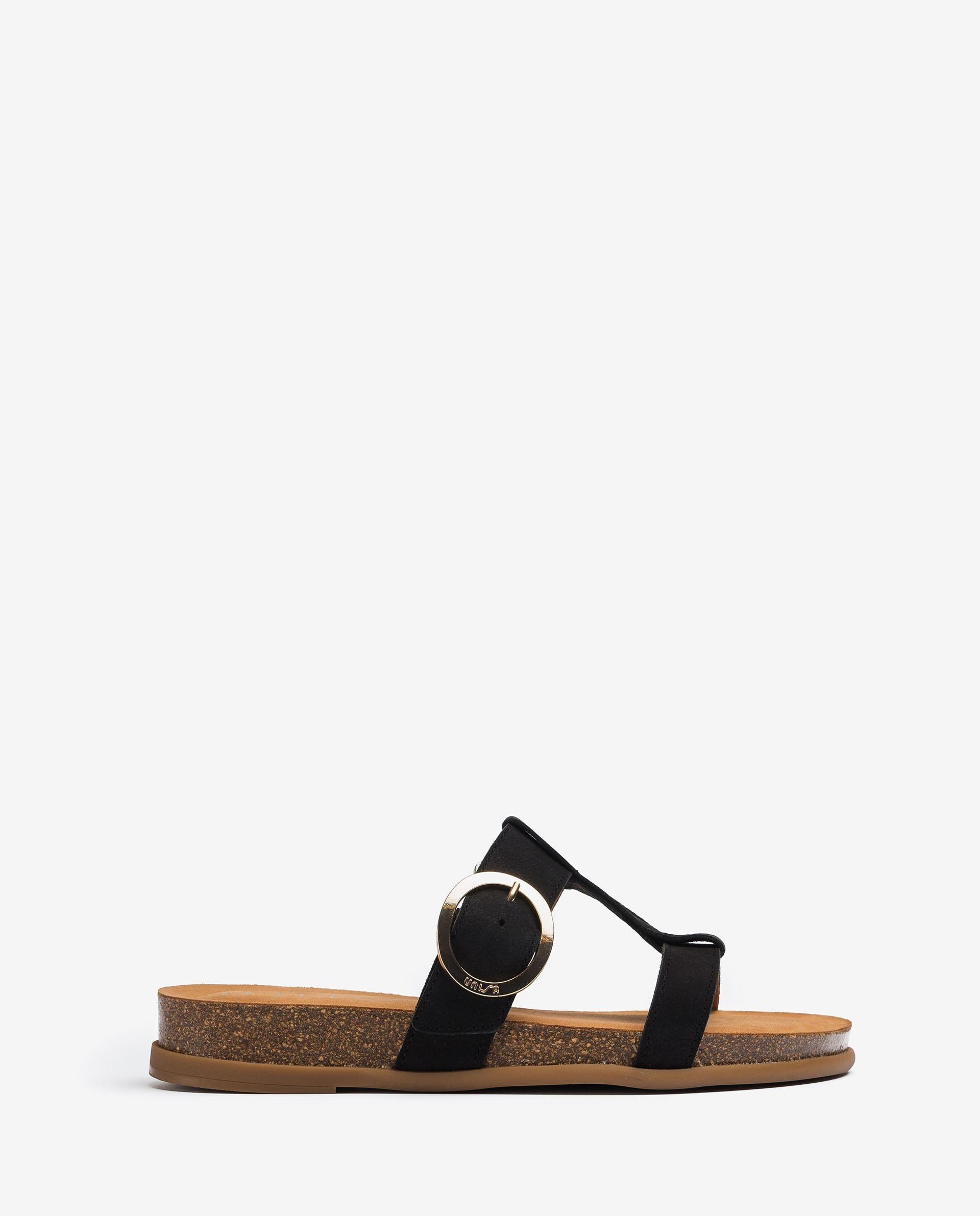 UNISA Sandalia con hebilla y plataforma de corcho CIVETA_BLU
