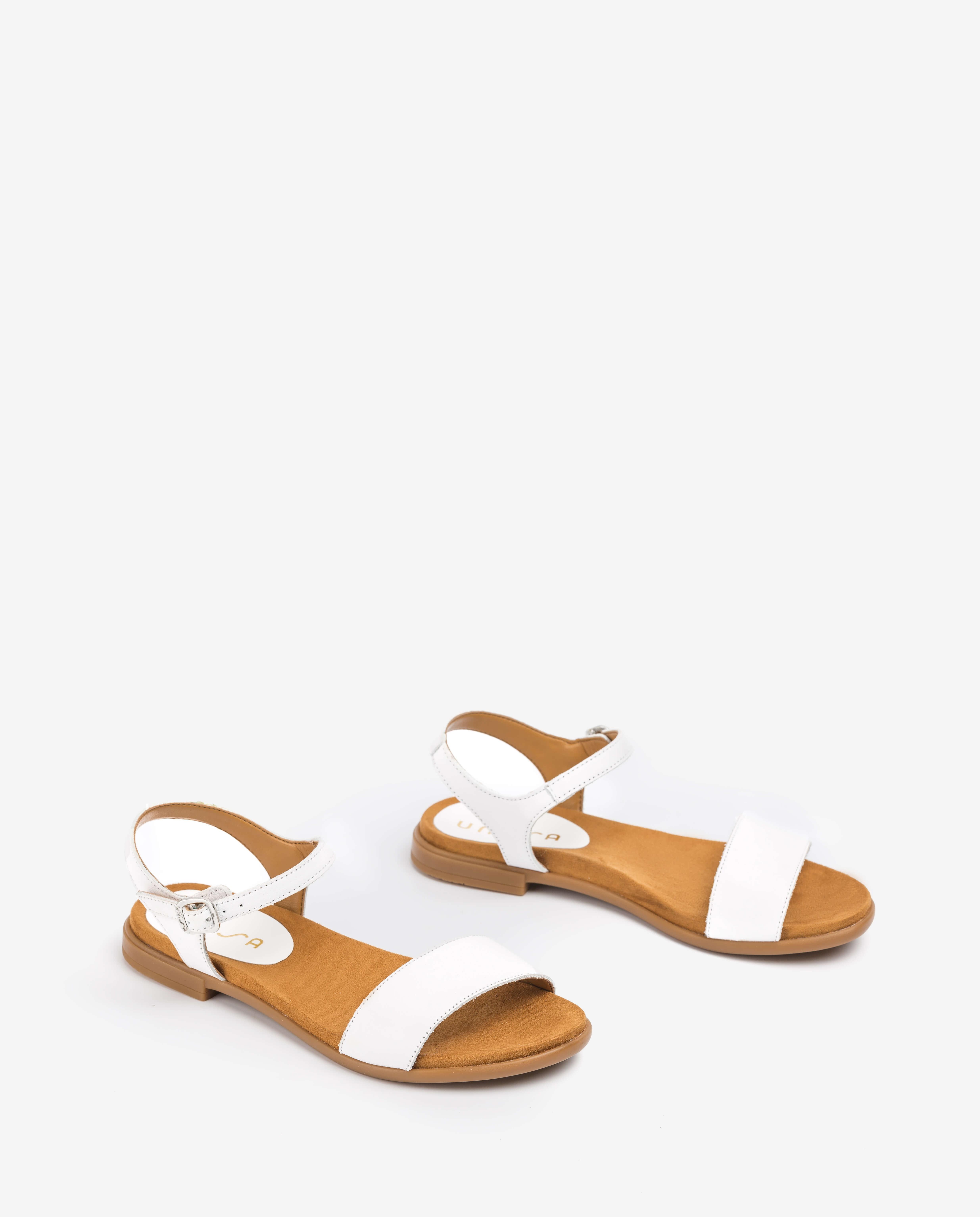 UNISA Sandalia blanca de niña LIRITA_20_C_NT_CAN white