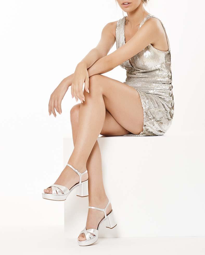 Unisa Sandalias NETA_LMT silver 6