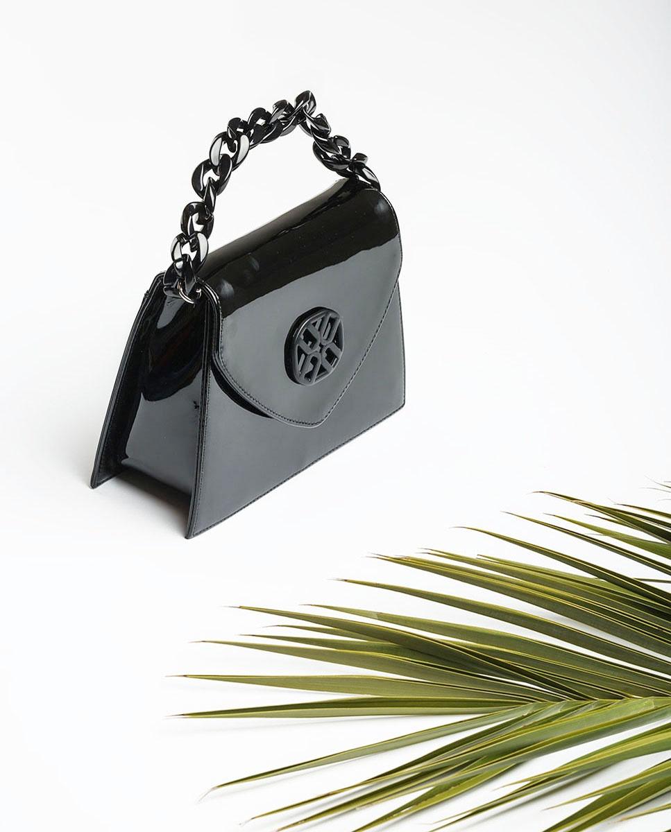 UNISA Bolso monograma charol ZCATA_PA black