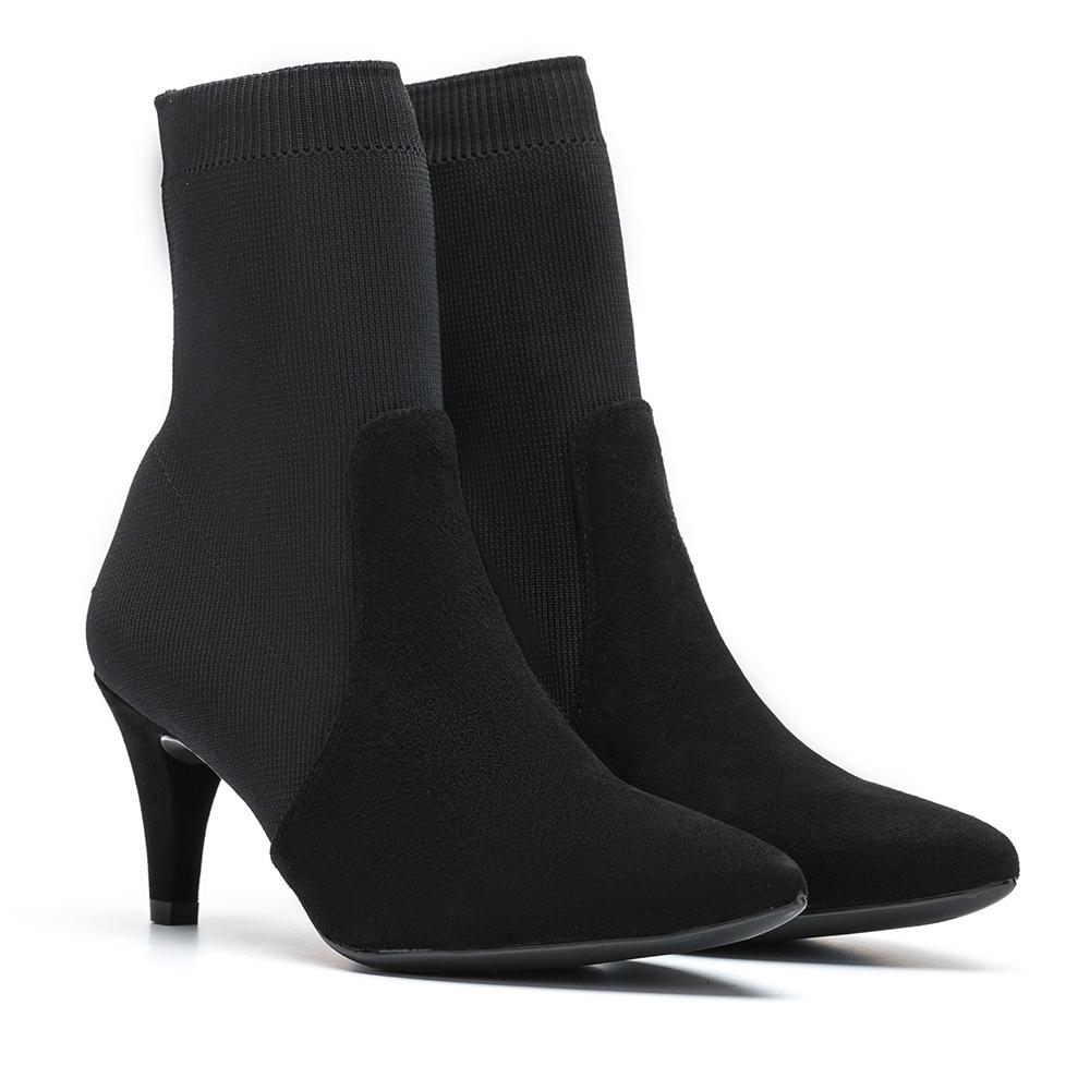 UNISA Botín negro calcetín  KAMBRIN_KS black