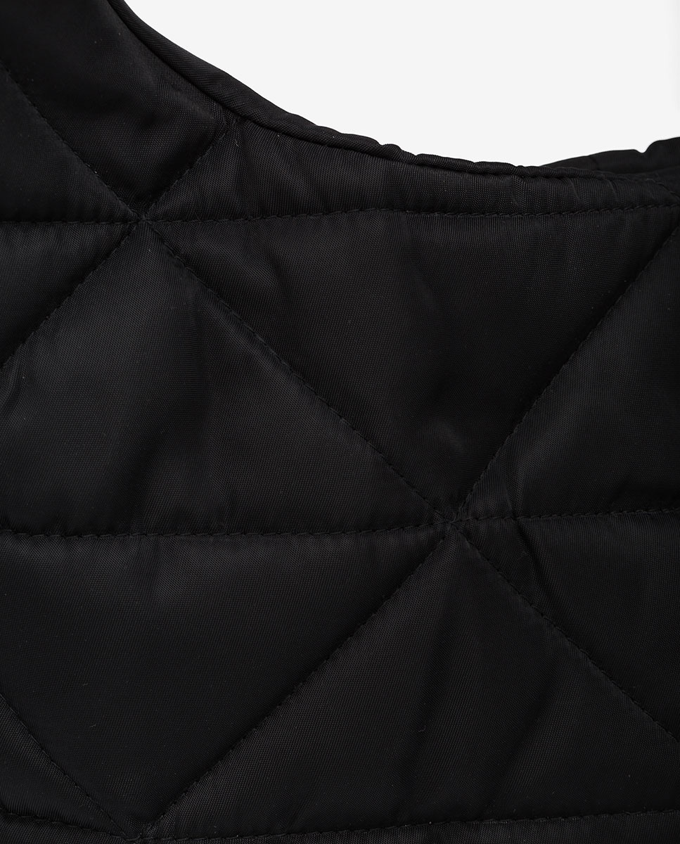 UNISA Bolso hobo tejido nylon ZISQUILT_BUS black