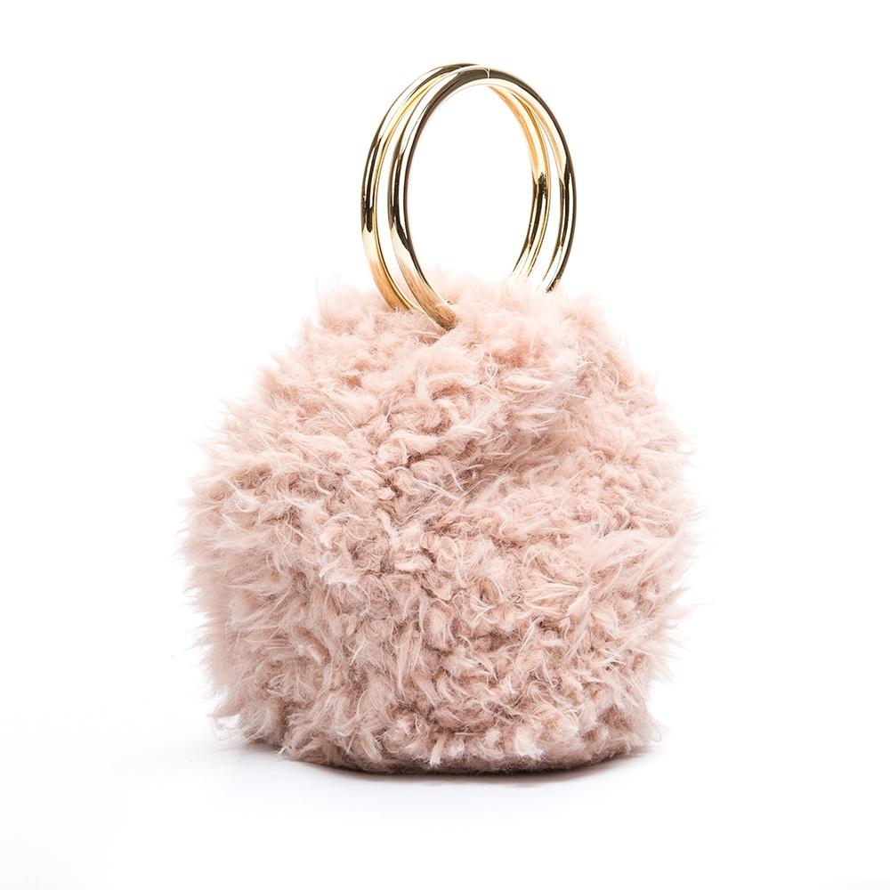 UNISA Bolso bombonera pelo rosa ZBIOS_CTT roxe