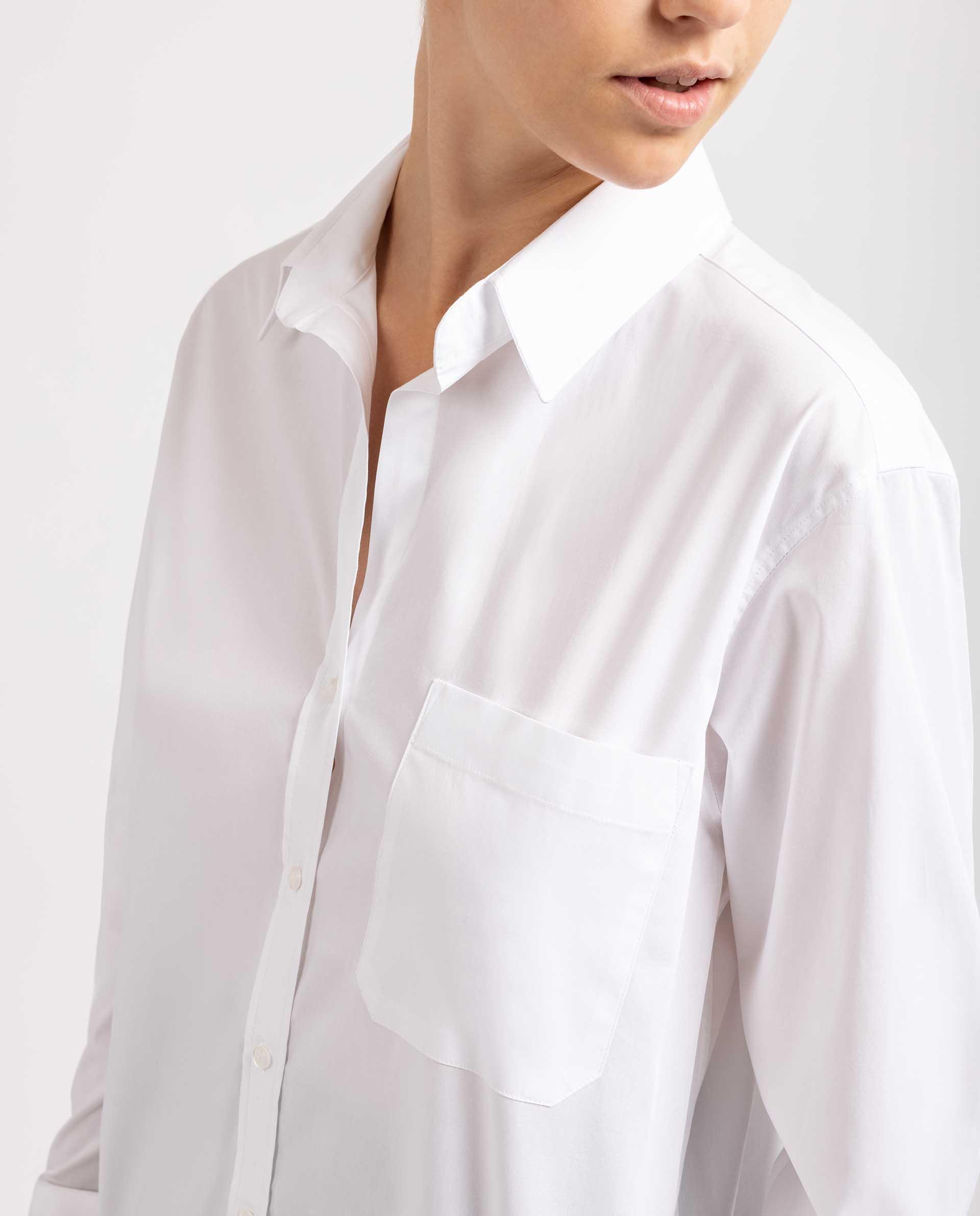 UNISA Camisa blanca oversize R_BALMONTE