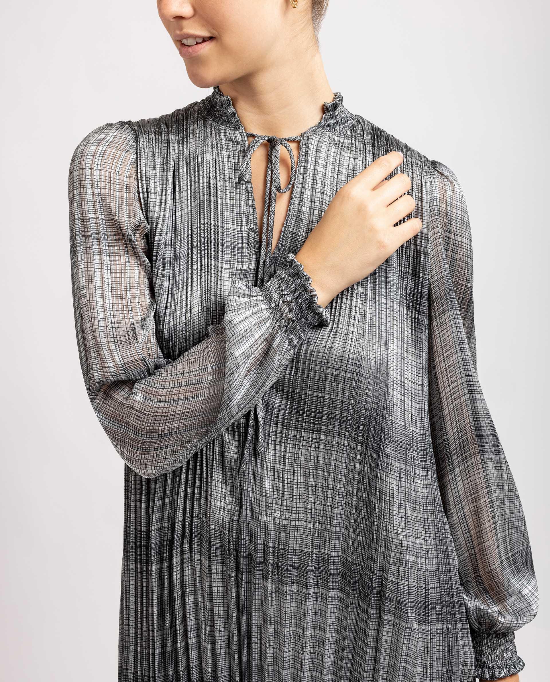 UNISA Vestido con tejido plisado R_LAYNA