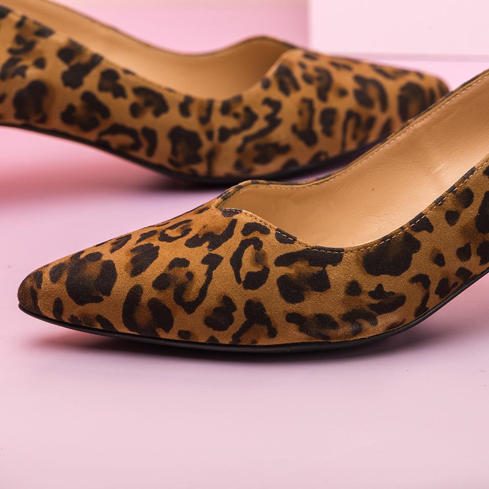 UNISA Salón leopardo tacón chupete JEDI_KL ginger