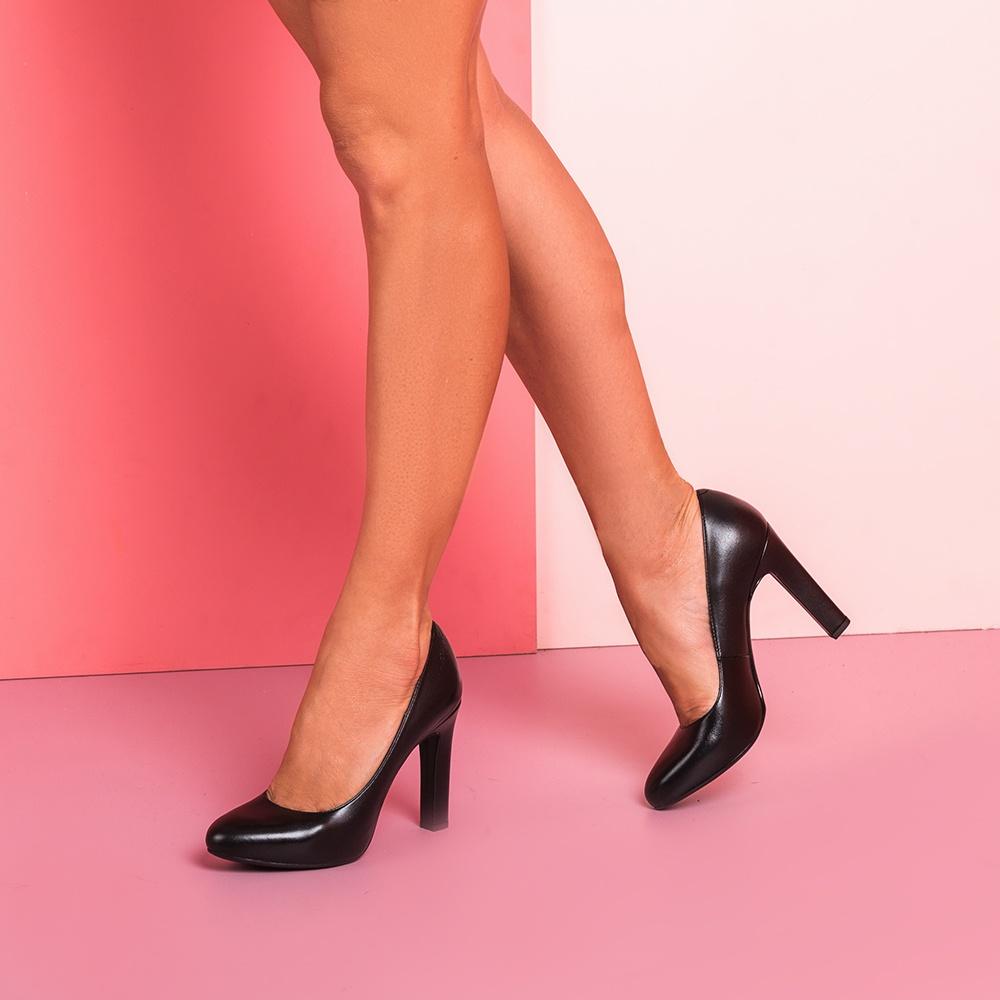 UNISA Salón mujer de piel tacón alto PATRIC_F19_NA black