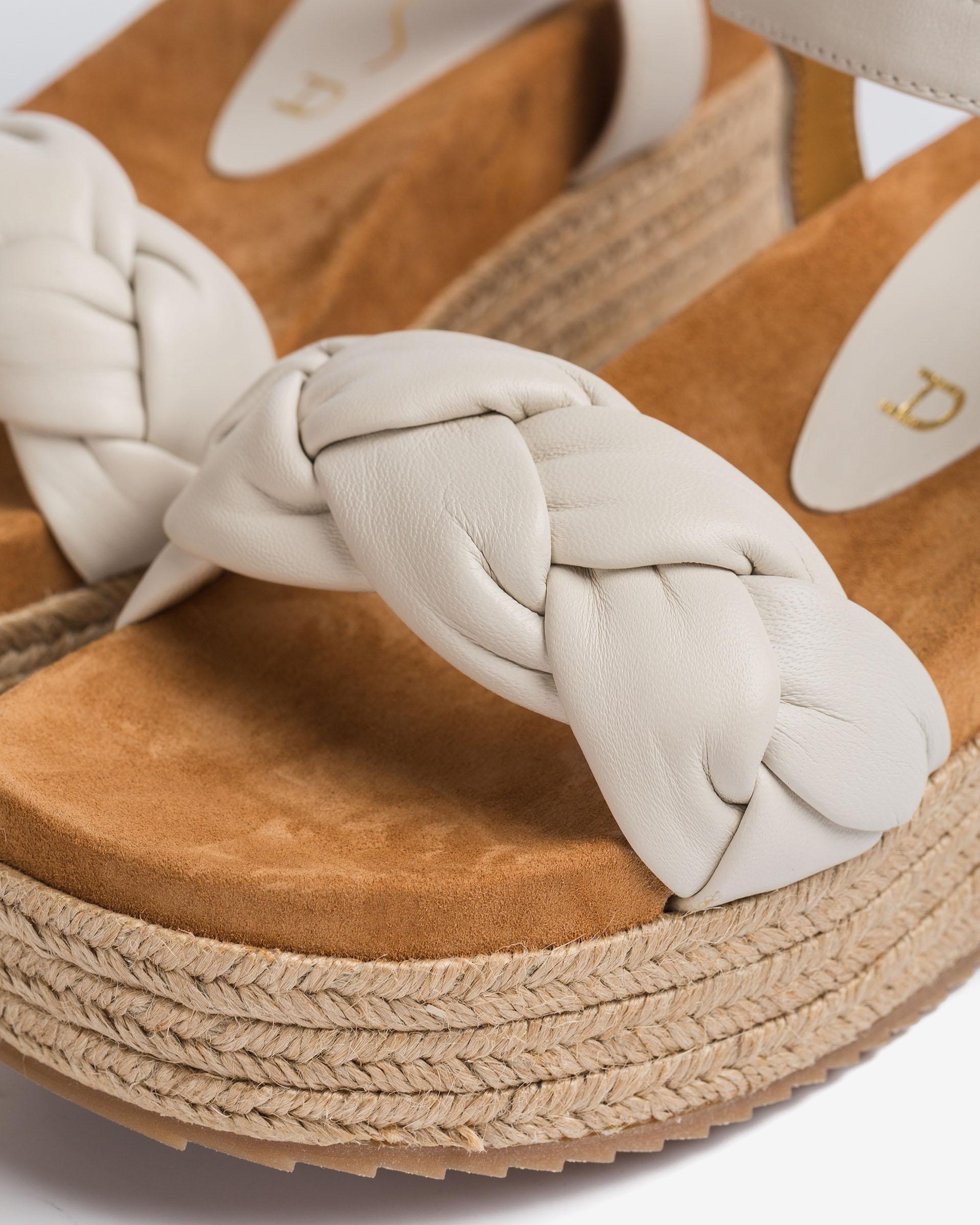 UNISA Sandalia de piel con tira de trenzas CLOY_NS