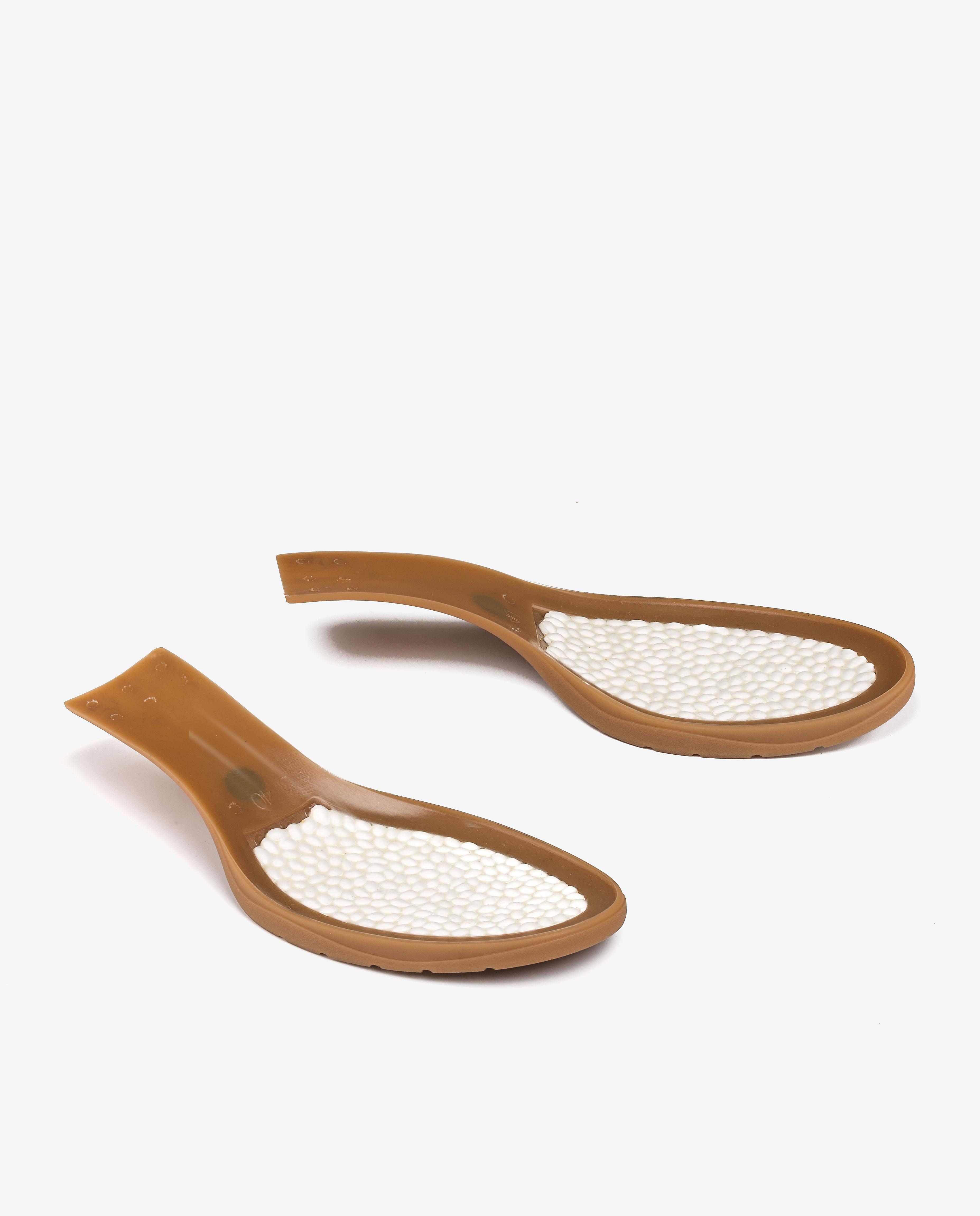 UNISA Sandalia oro claro tacón efecto madera GODOY_LMT platino