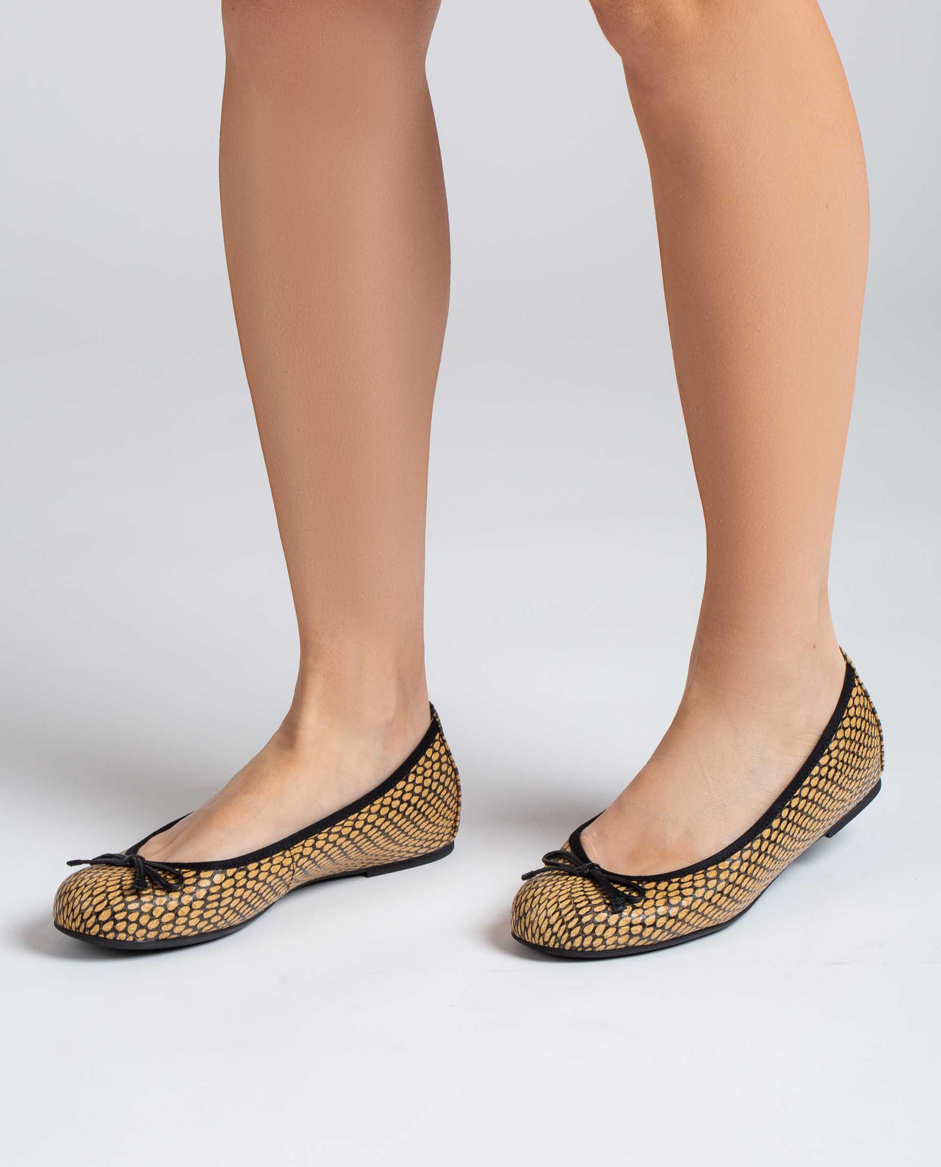UNISA Bailarinas de piel efecto serpiente ACOR_21_MA