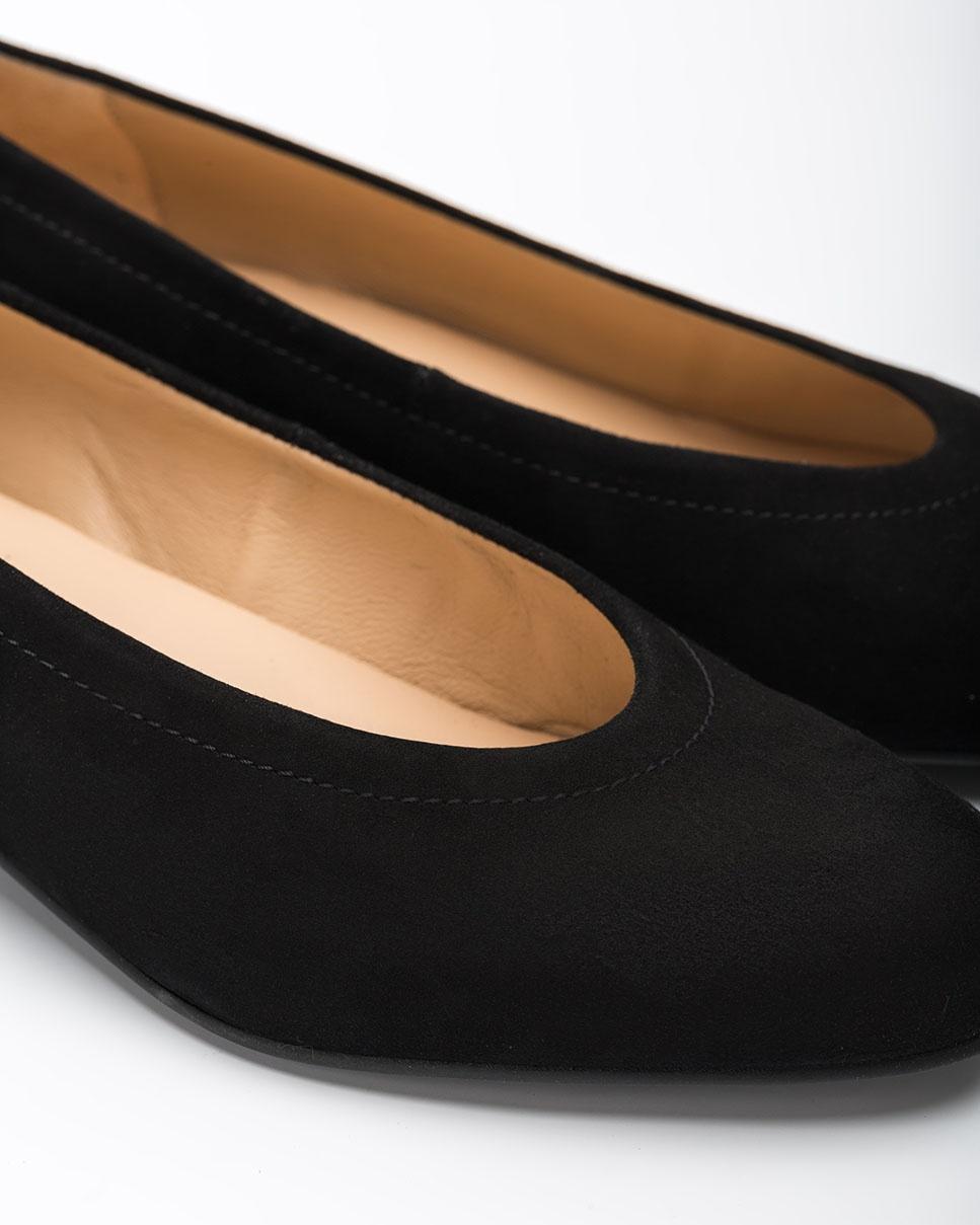 UNISA Bailarina negra de ante con cuña  CONESA_F20_KS black