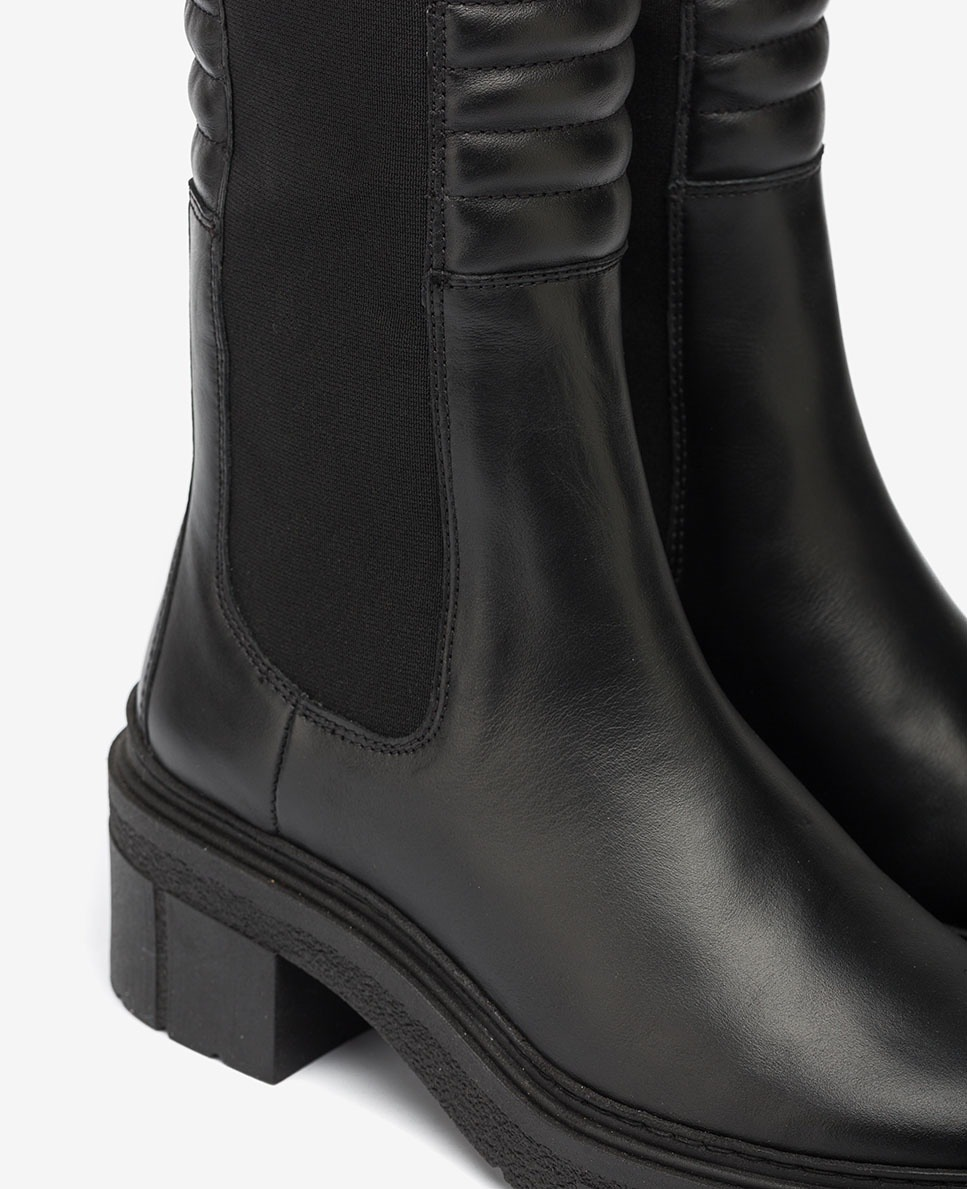 UNISA Bota negra con caña acolchada JINA_NF black