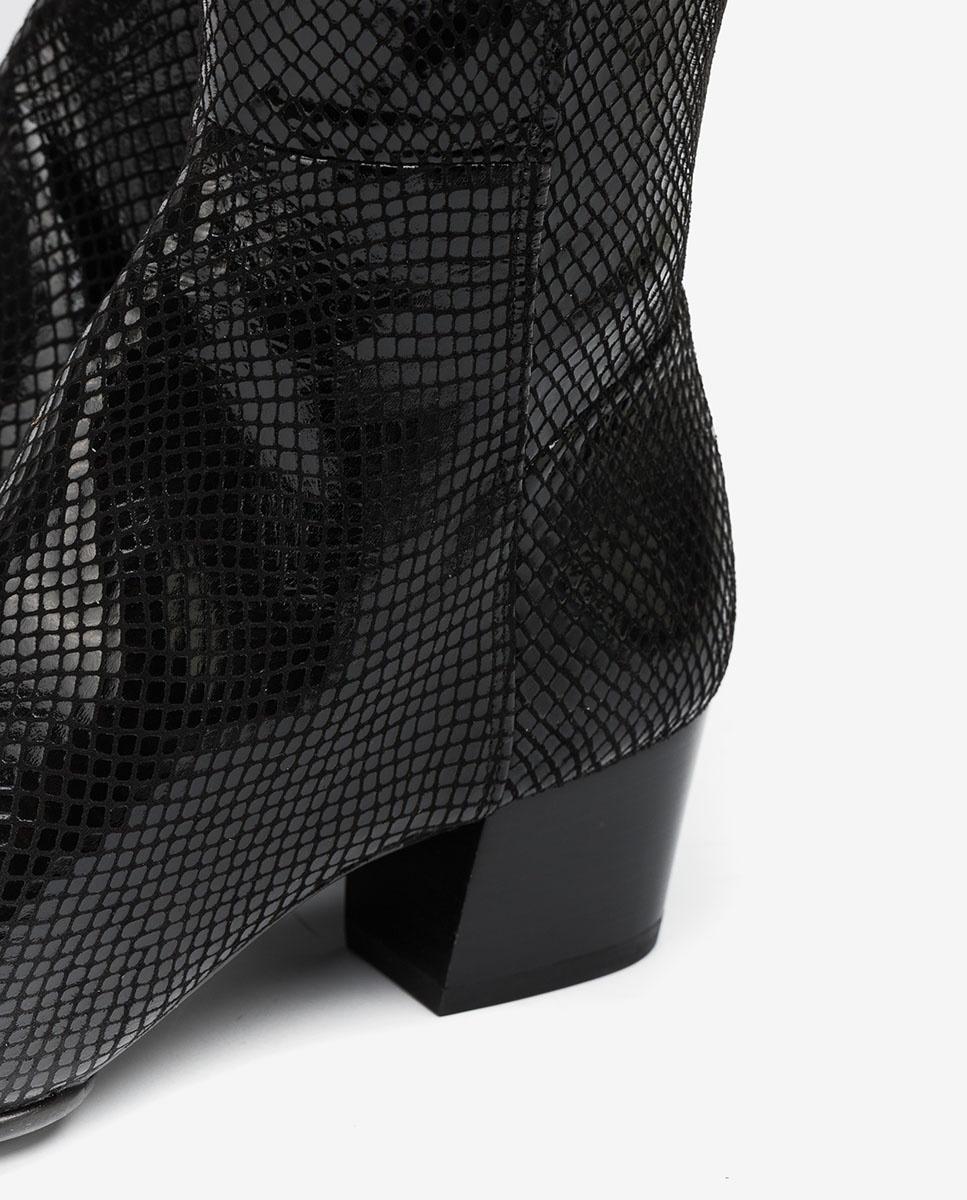 UNISA Bota elástica serpiente negra JOEL_F20_STPY black