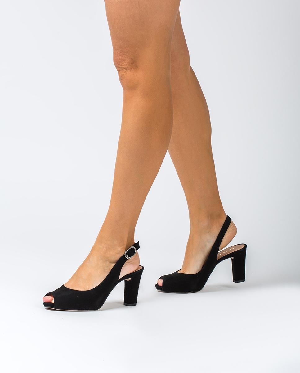 UNISA Peep toe negro destalonado ante NICKA_CLASSIC_20_KS black