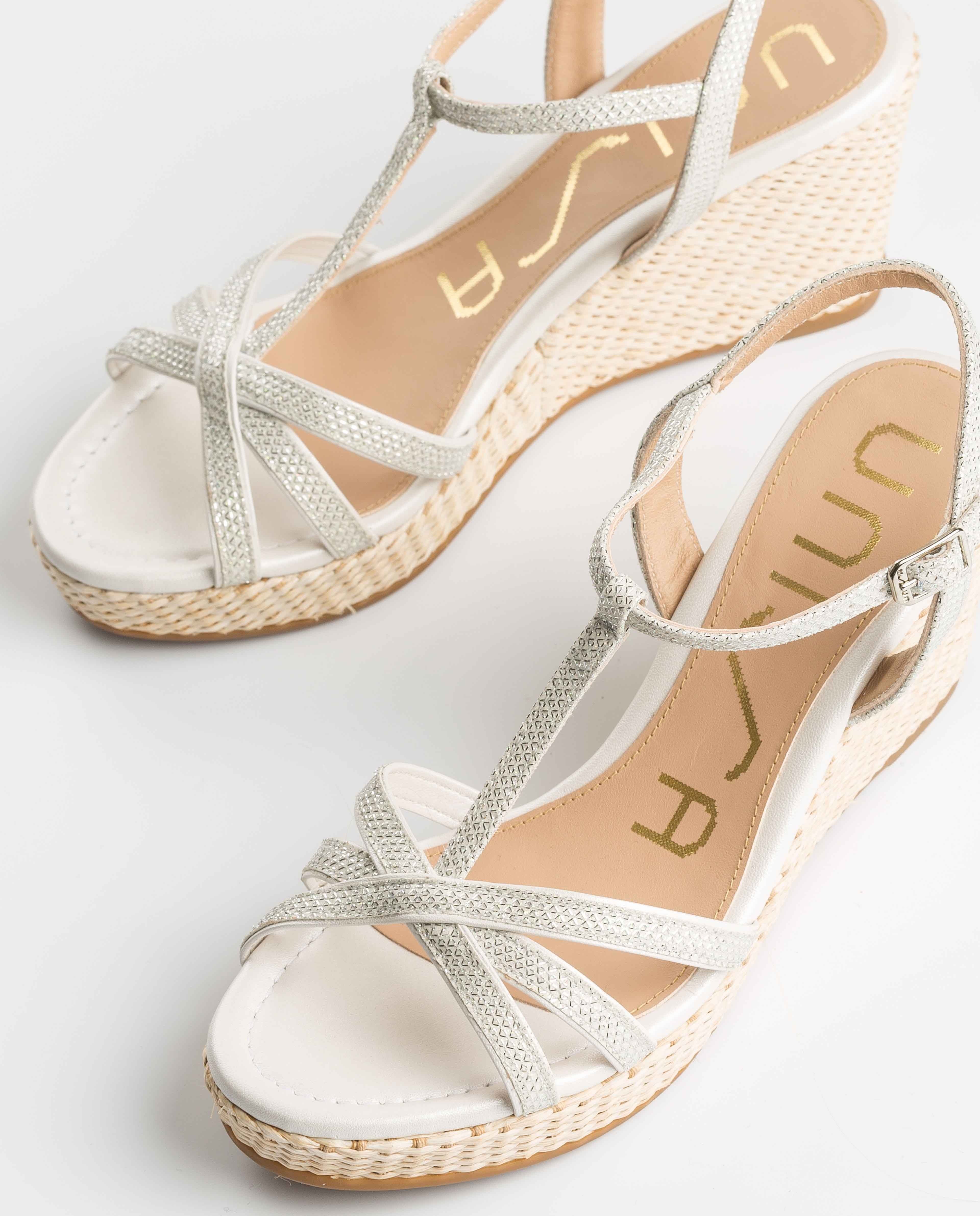 UNISA Sandalia T-strap novia LLINAR_EV_NA_N white/bone