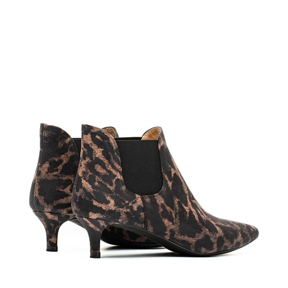 UNISA Bottine animal print kitten heel JACINTA_JA tan 3