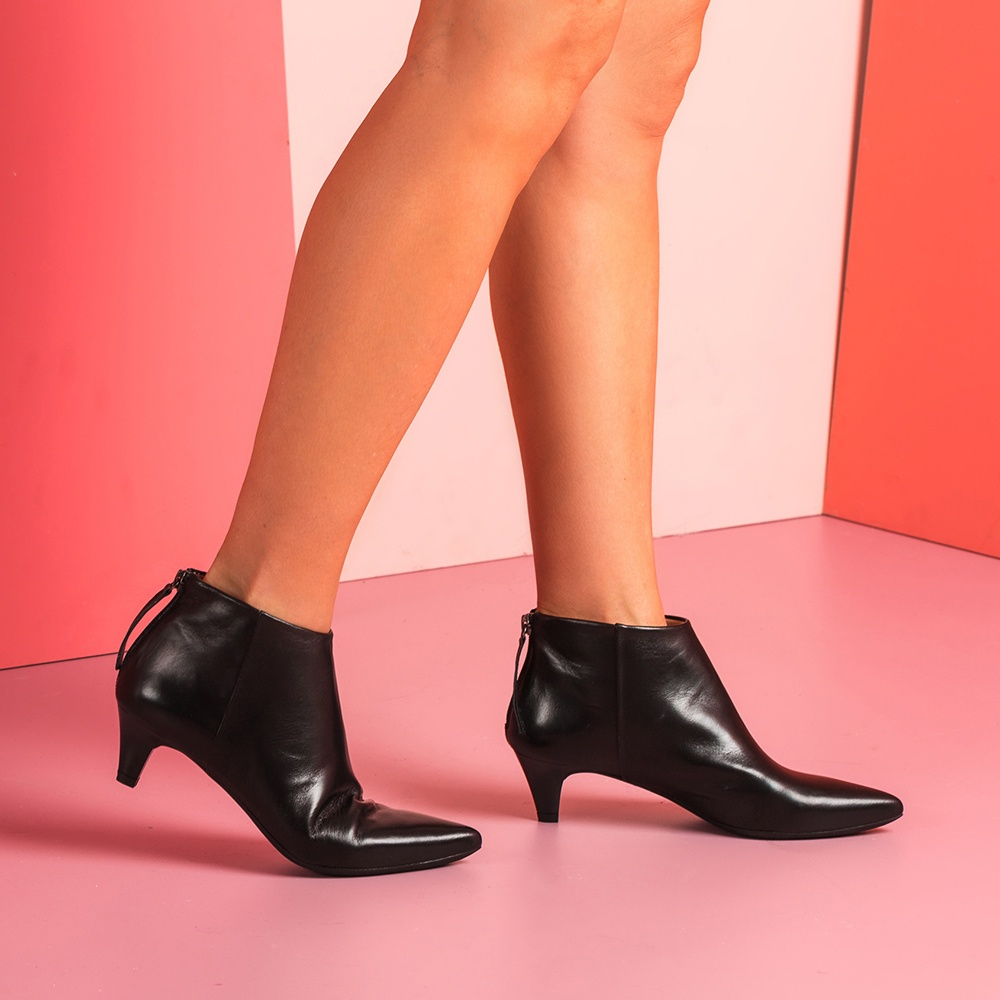 UNISA Bottine noire kitten heel JUDIT_NA black 3