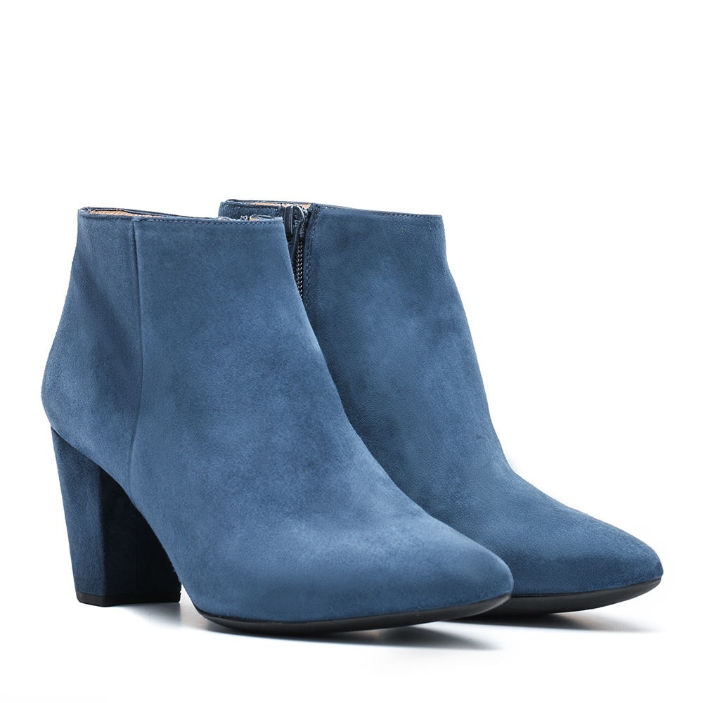 UNISA Low boot en daim bleu KISNER_KS dark jeans 3
