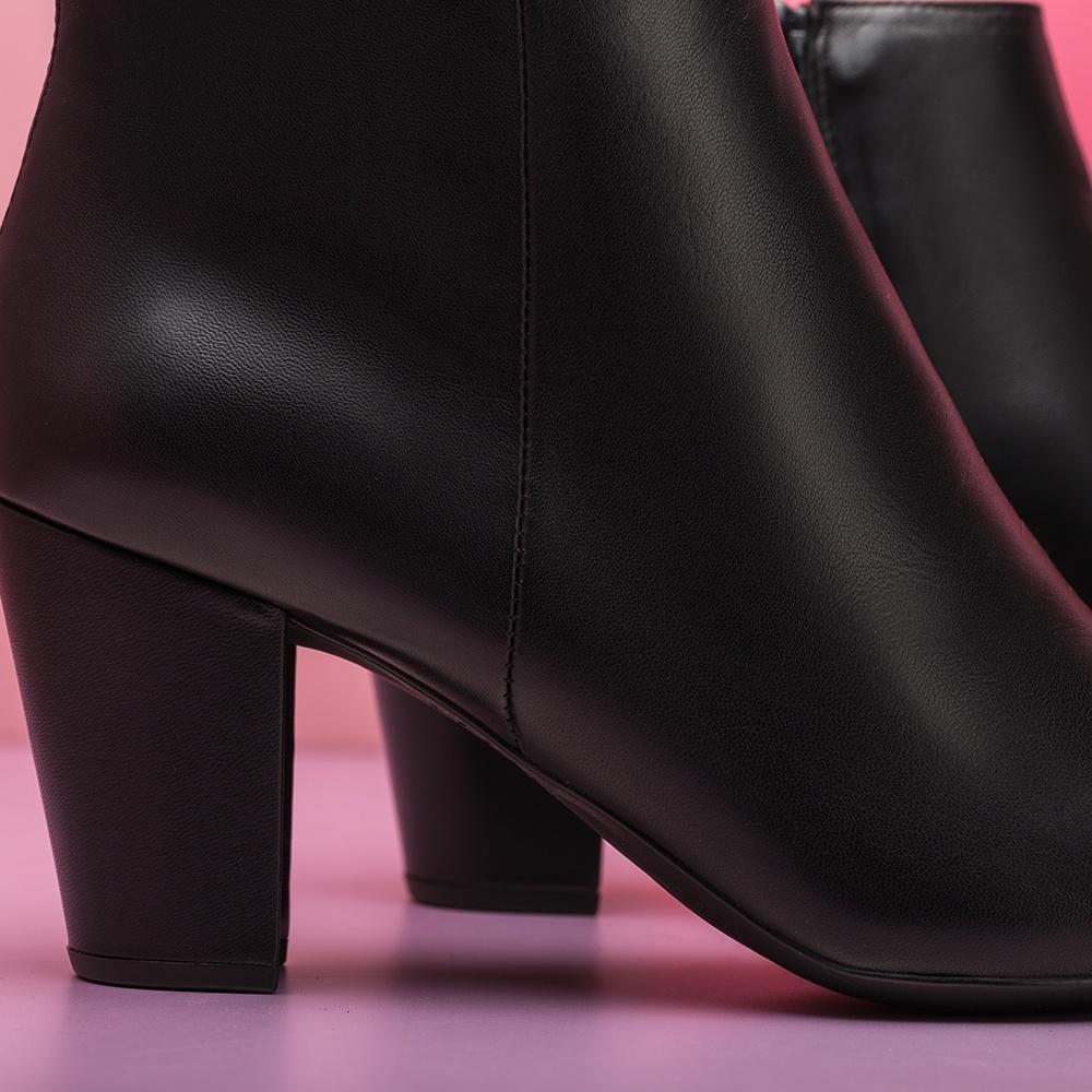 UNISA Low boot en cuir noir KISNER_NA black 3