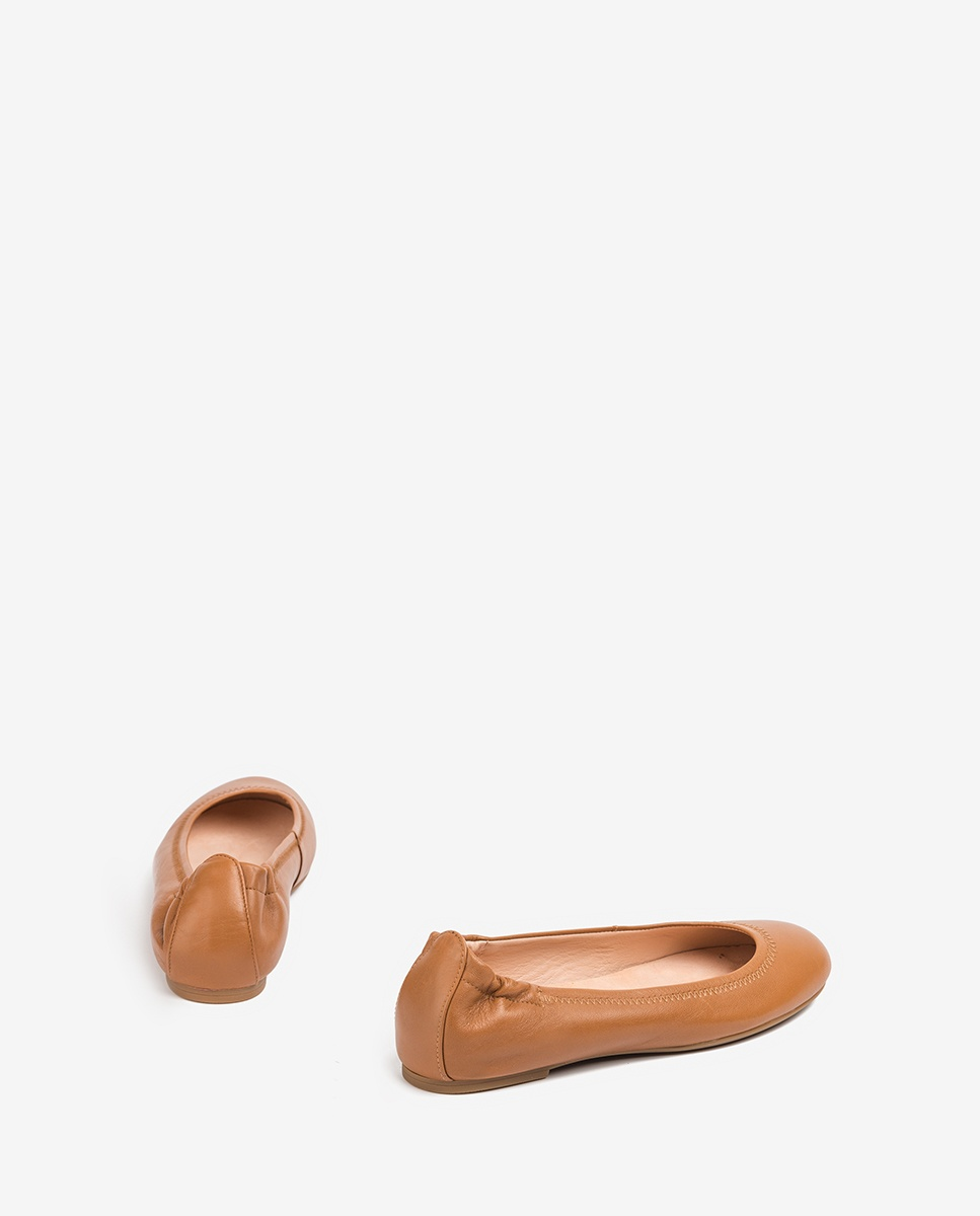UNISA Ballerine cuir marron ALIMA_NS bisquit 3