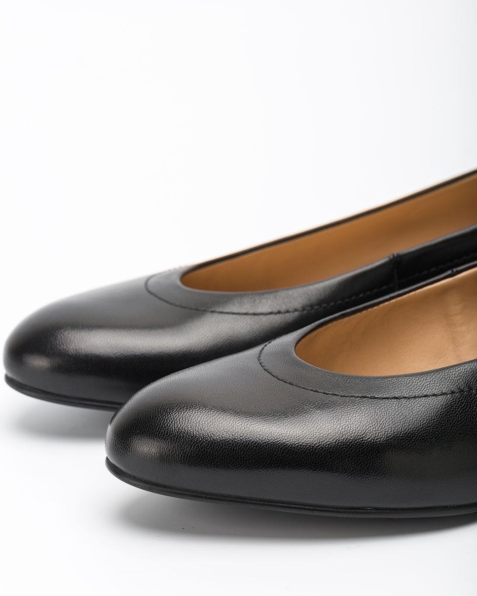UNISA Ballerines en cuir noir avec plateforme CONESA_F20_NA black 3