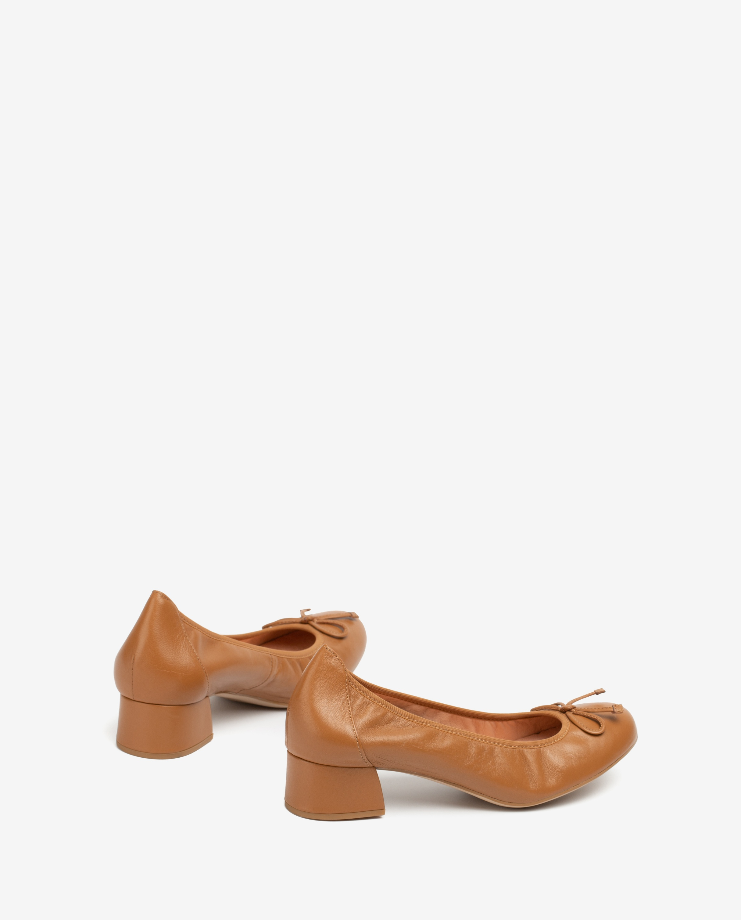 UNISA Ballerine cuir talon LACOR_20_NS bisquit 3