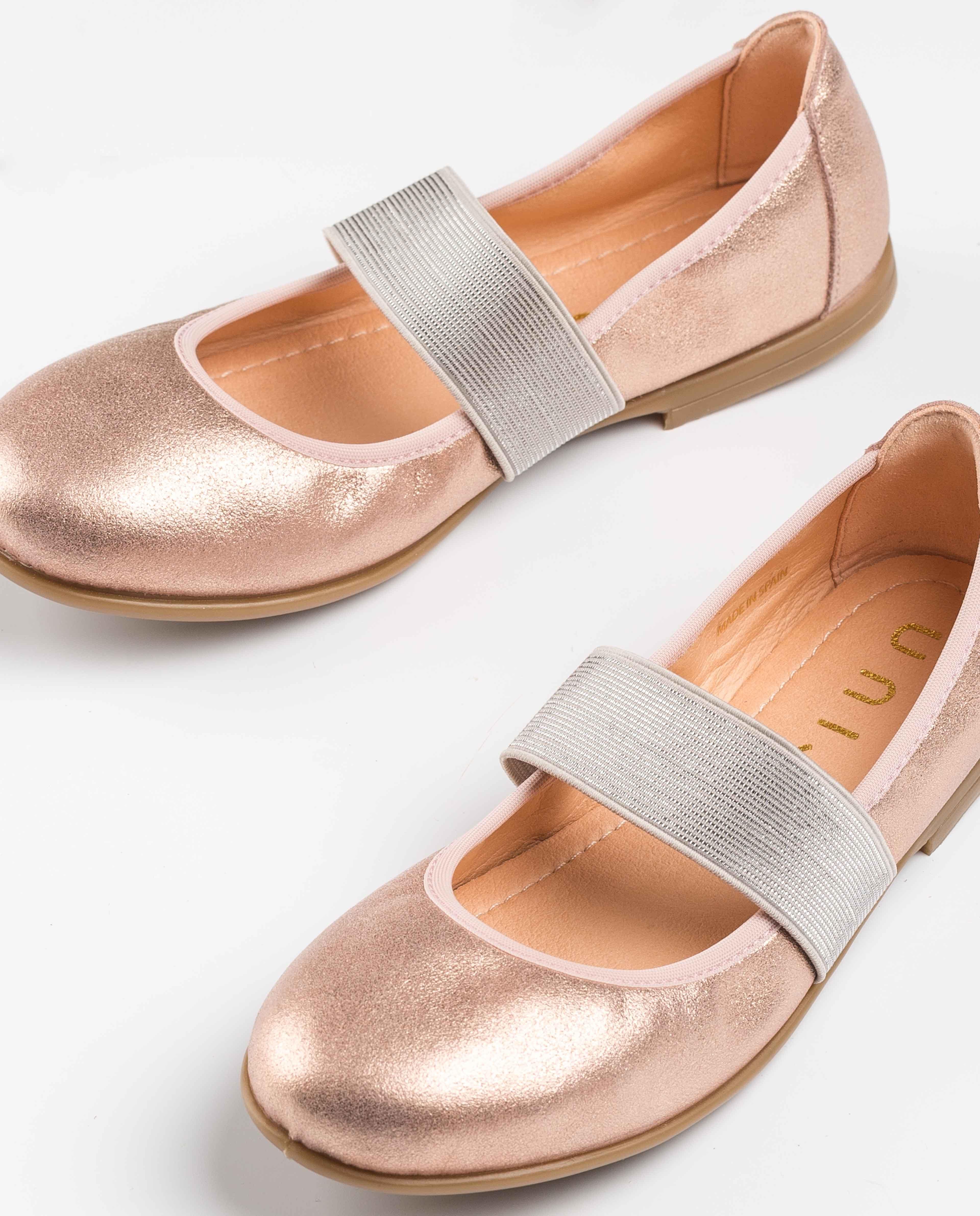UNISA Mary Jane métallisée fille SELLA_MTS ballet 3